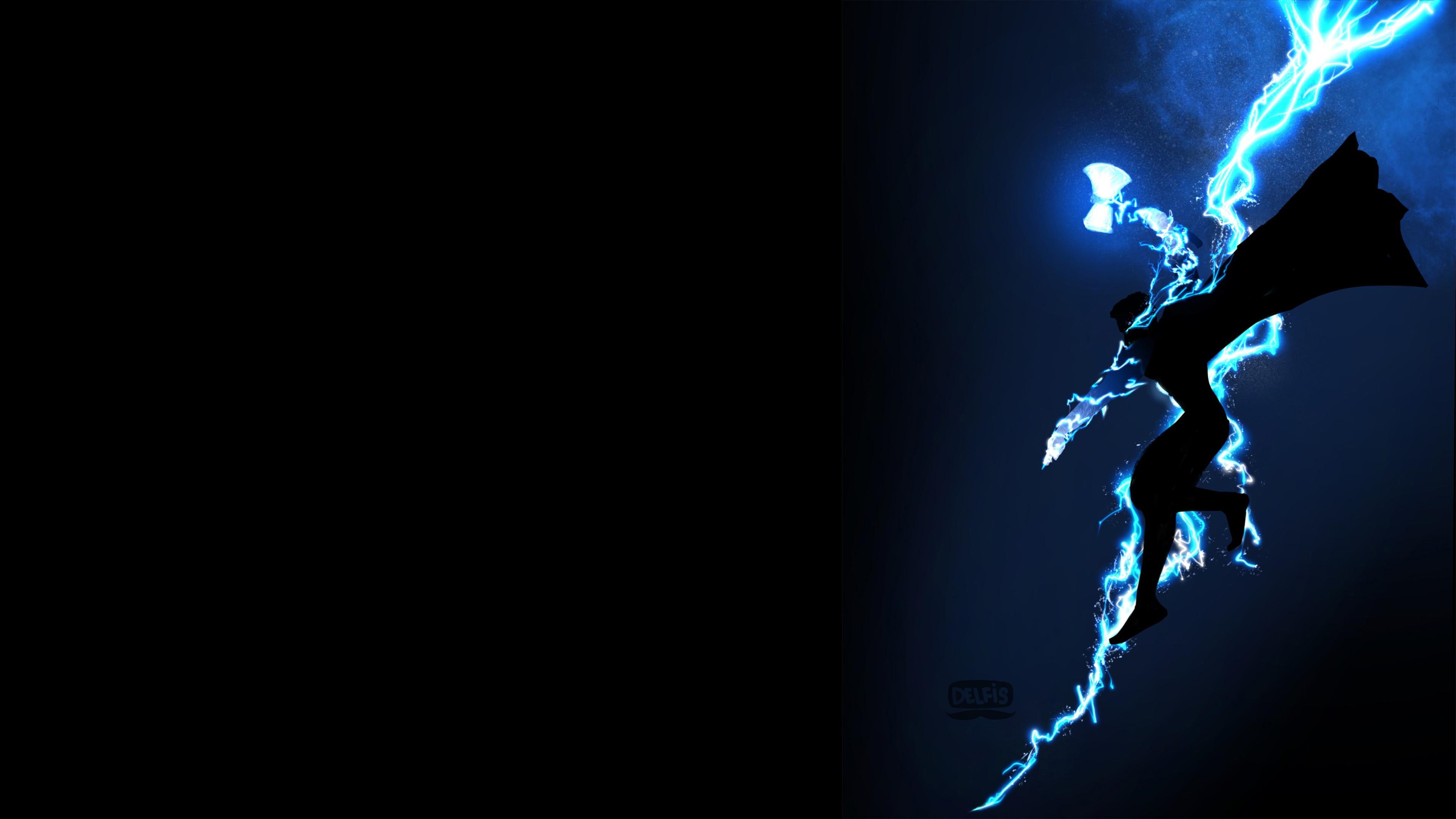 Res: 3840x2160, Thor God Of Thunder 4K