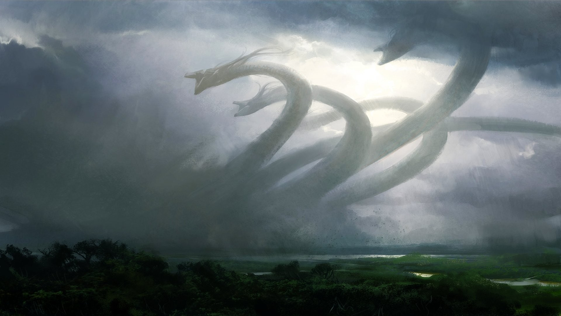 Res: 1920x1080, Fantasy - Hydra Wallpaper