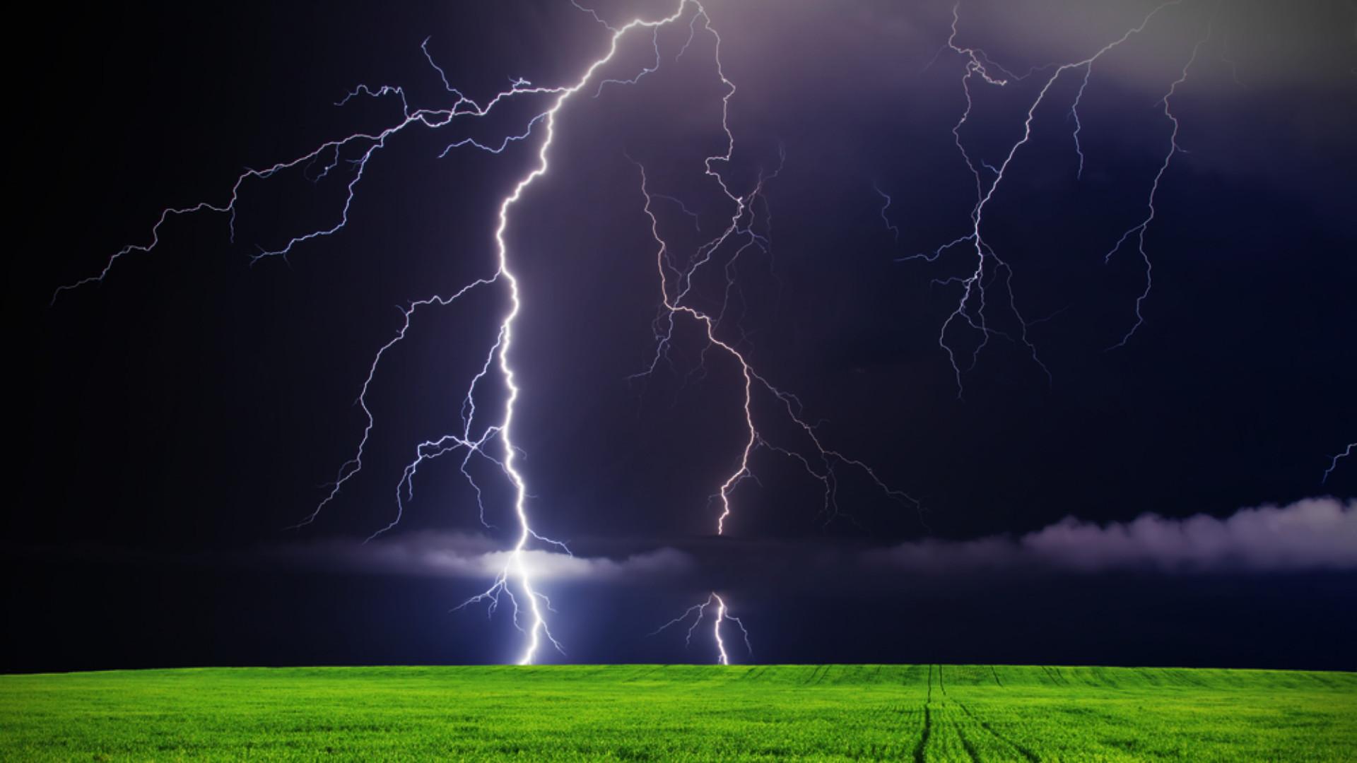 Res: 1920x1080, Lightning Storm Hd Wallpaper