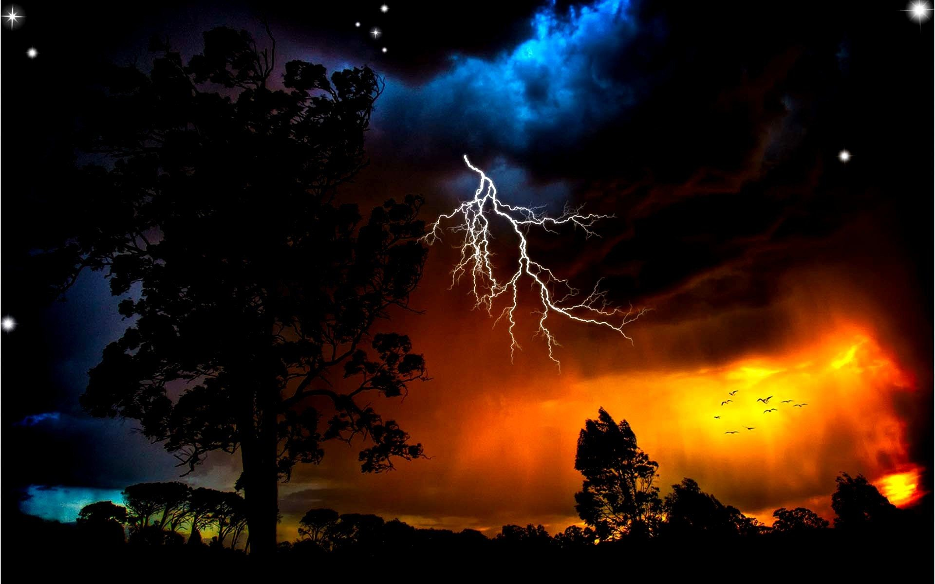 Res: 1920x1200, Thunder Fire HD Pictures, Thunder Storm Wallpapers - Wallpapers .