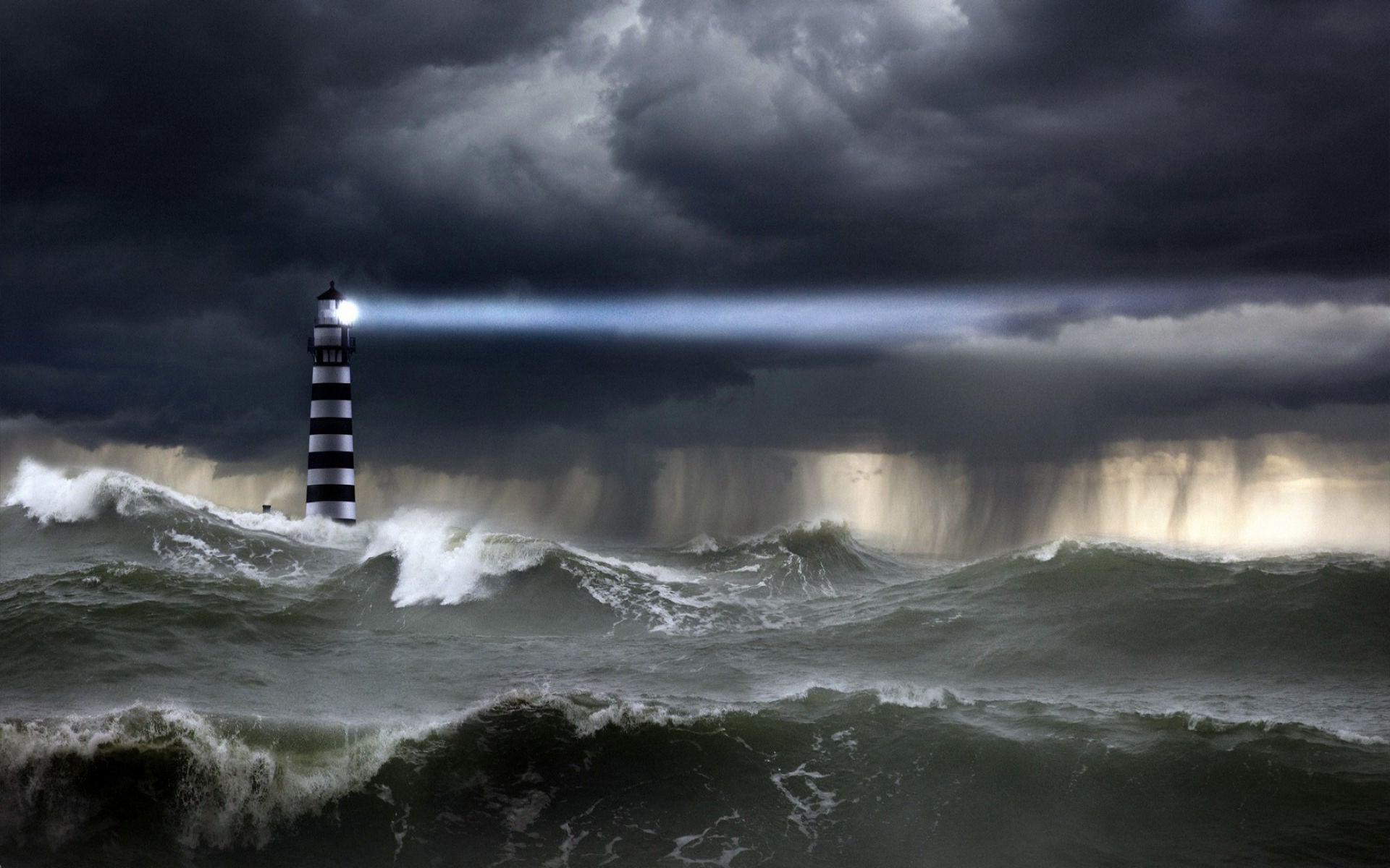 Res: 1920x1200, Lighthouse Storm