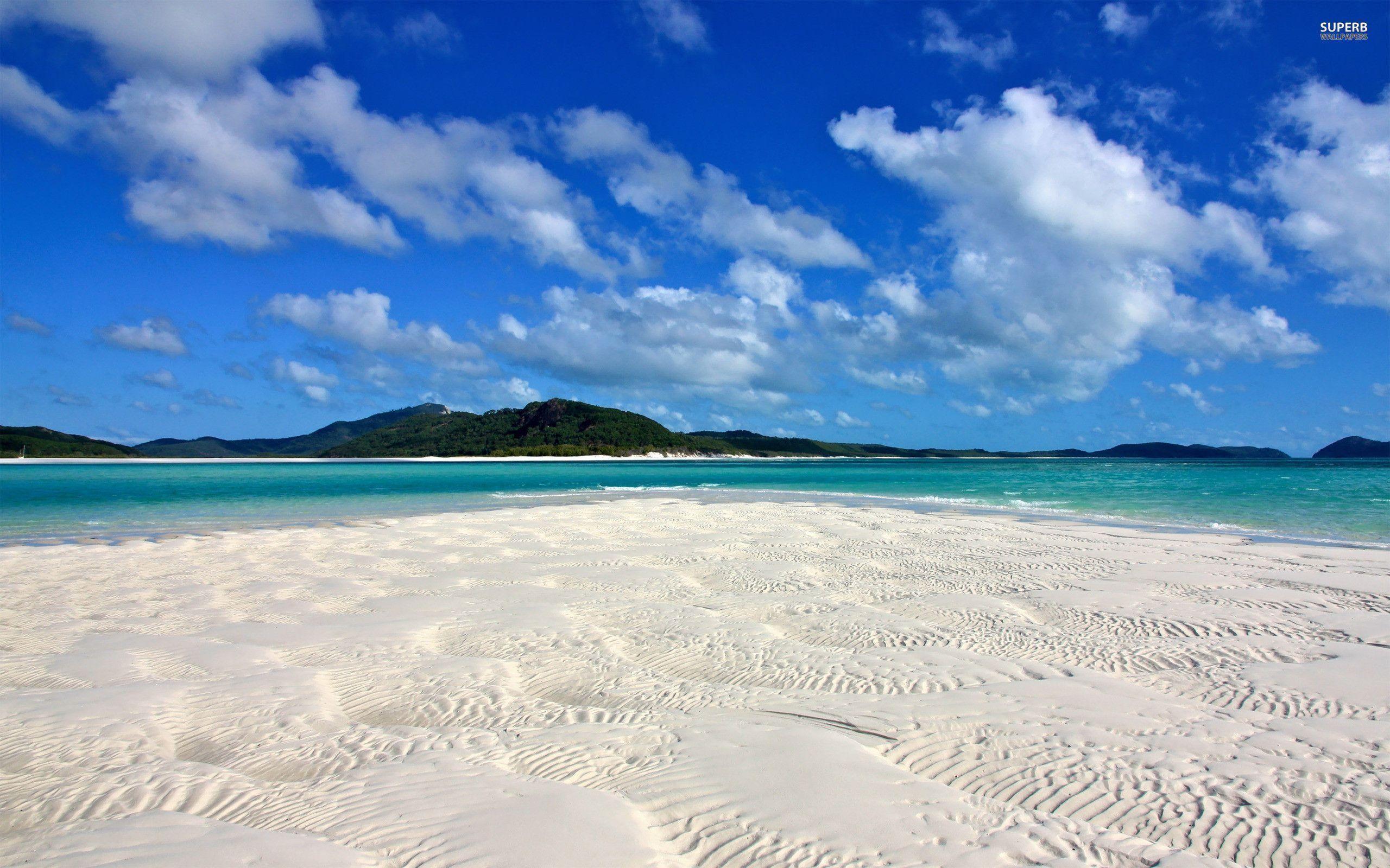 Res: 2560x1600, White sandy beach wallpaper - Beach wallpapers - #