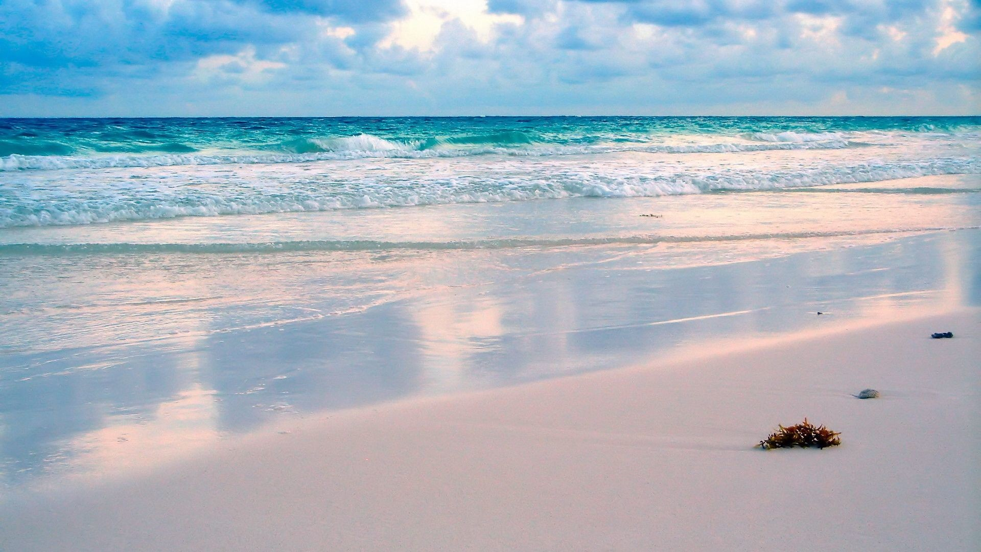 Res: 1920x1080, White sand beach | Home - Wallpapers / Photographs - Water - White sand of  beach