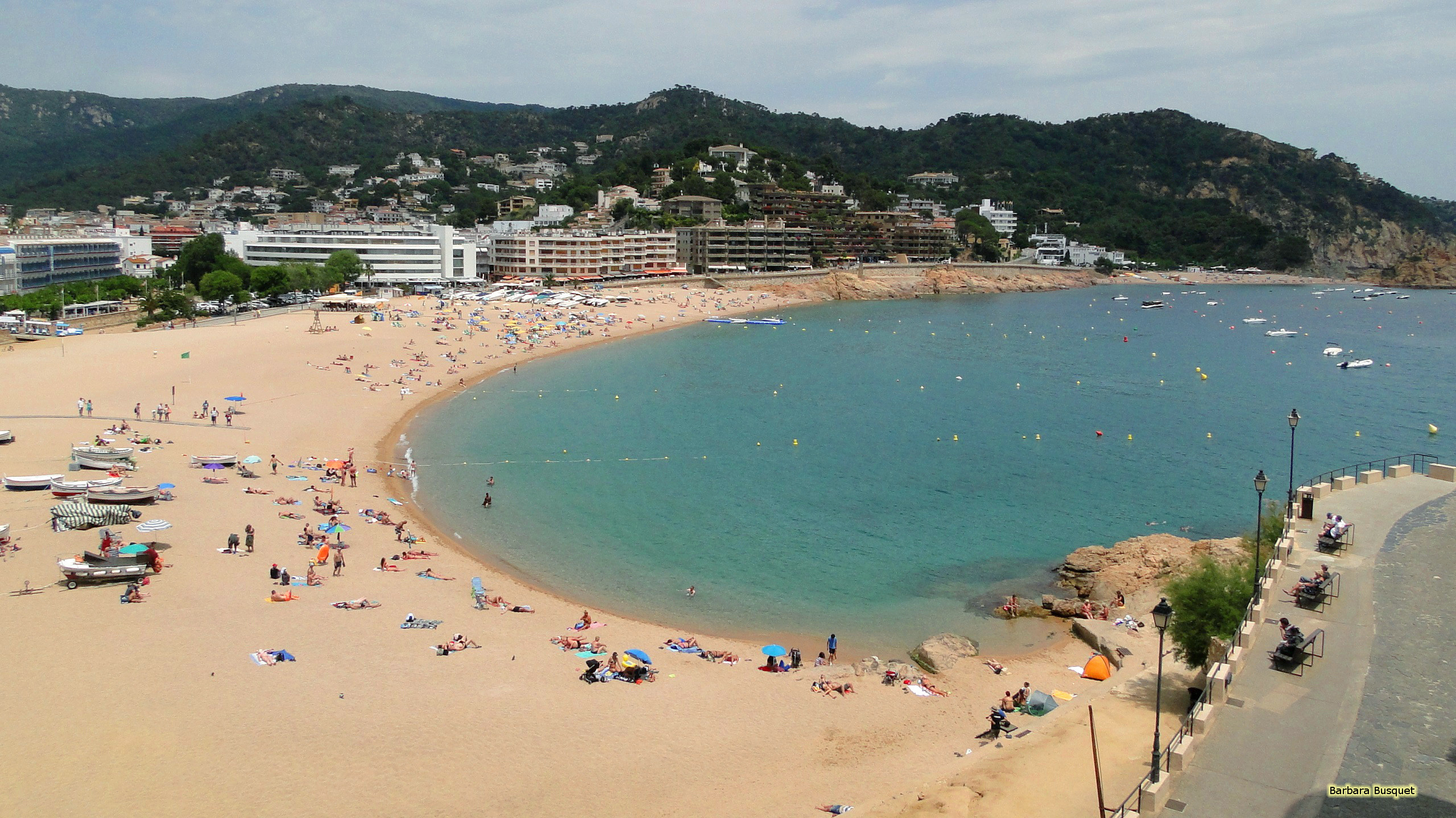 Res: 2560x1440, HD wallpaper beach in Spain