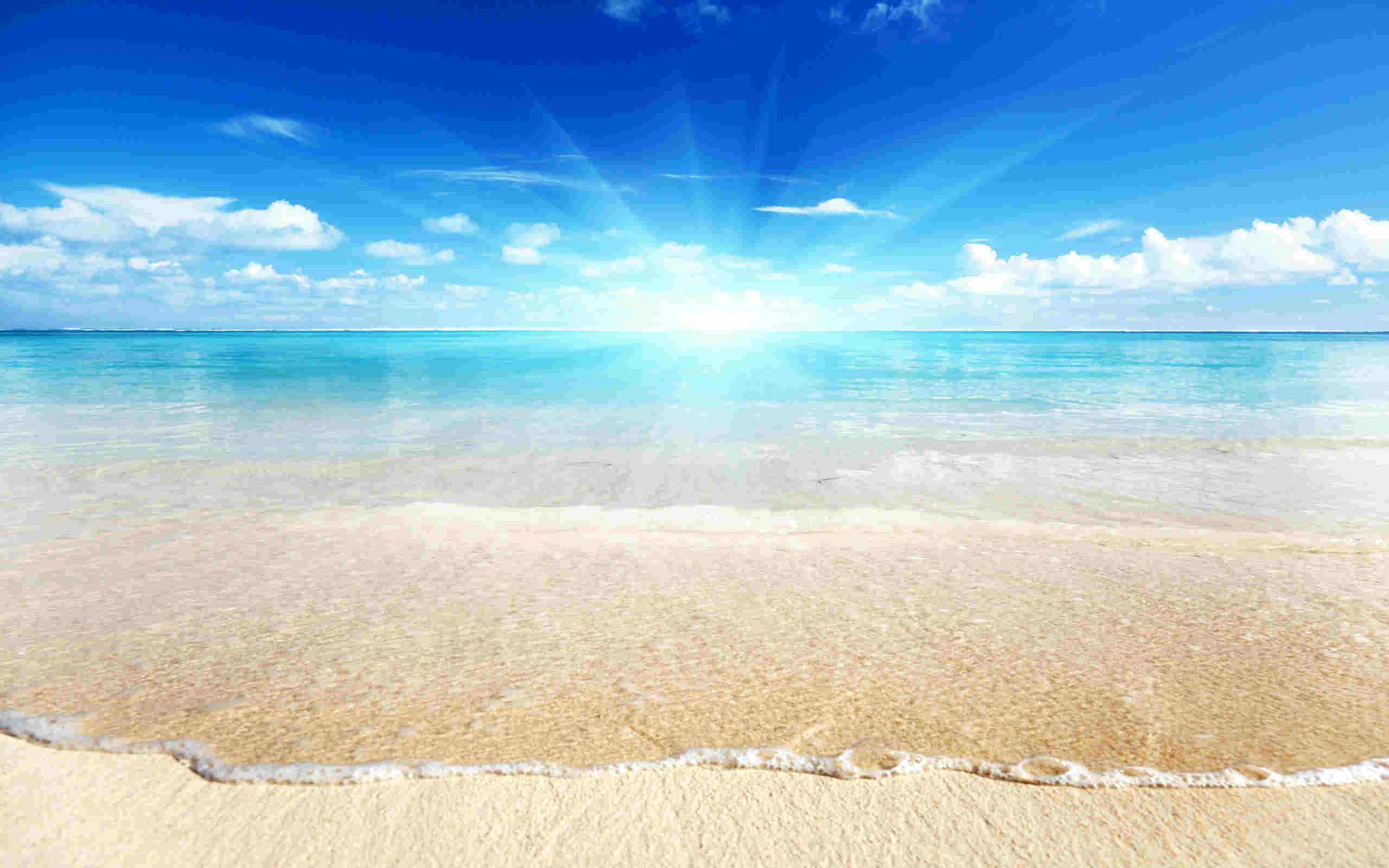 Res: 2560x1600, Caribbean Sand Beach Wallpaper