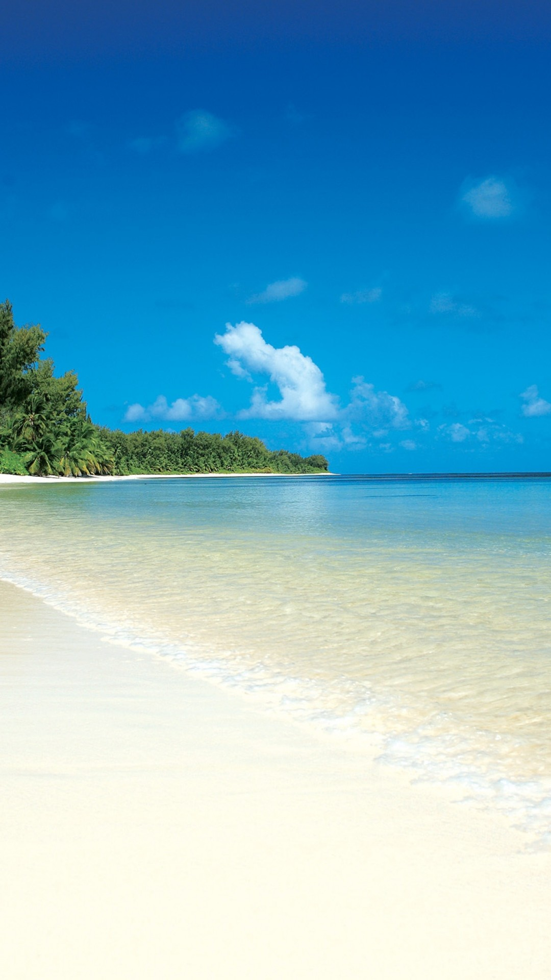 Res: 1080x1920, White sand beach