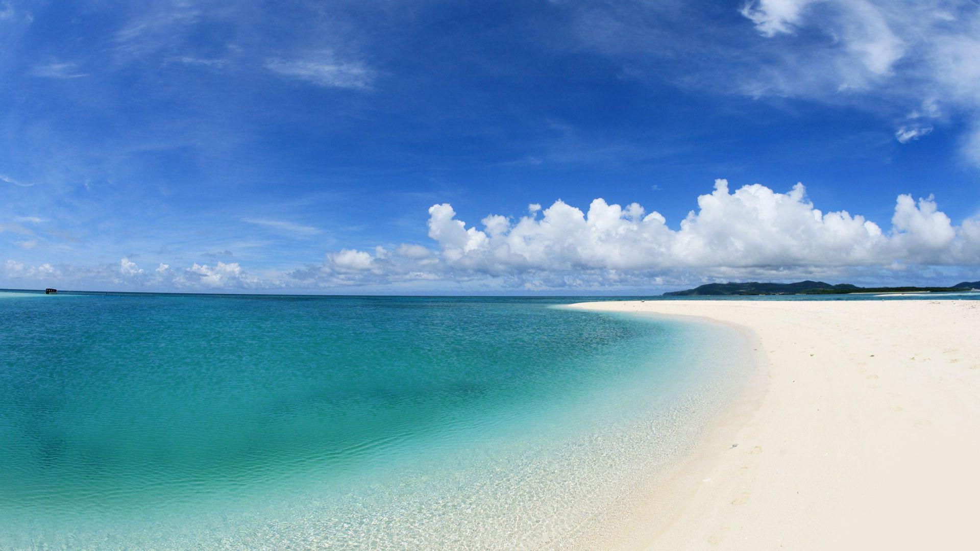 Res: 1920x1080, White sand beach