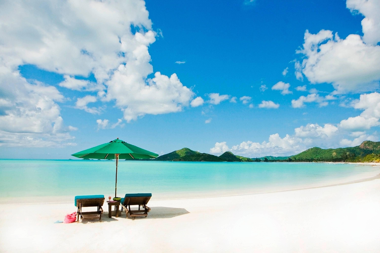 Res: 3000x1999, Tropical White Sand Beach