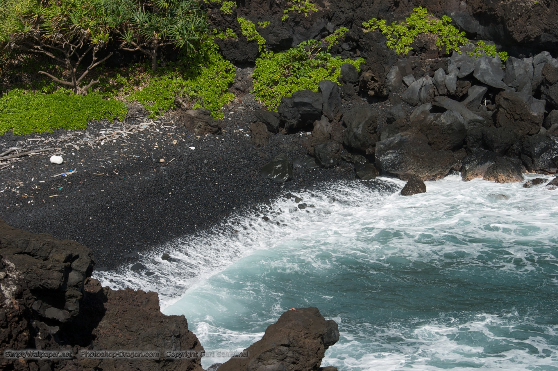 Res: 1920x1275, Black Sand Beach at Wai'Anapanapa State Park Maui wallpaper - Click picture  for high resolution HD wallpaper