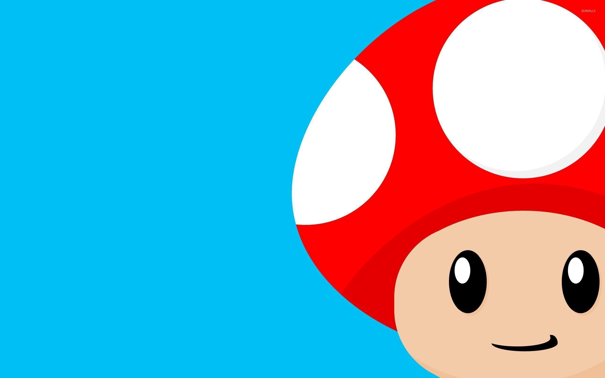 Res: 2560x1600, Mario mushroom wallpaper Vector wallpapers 26595