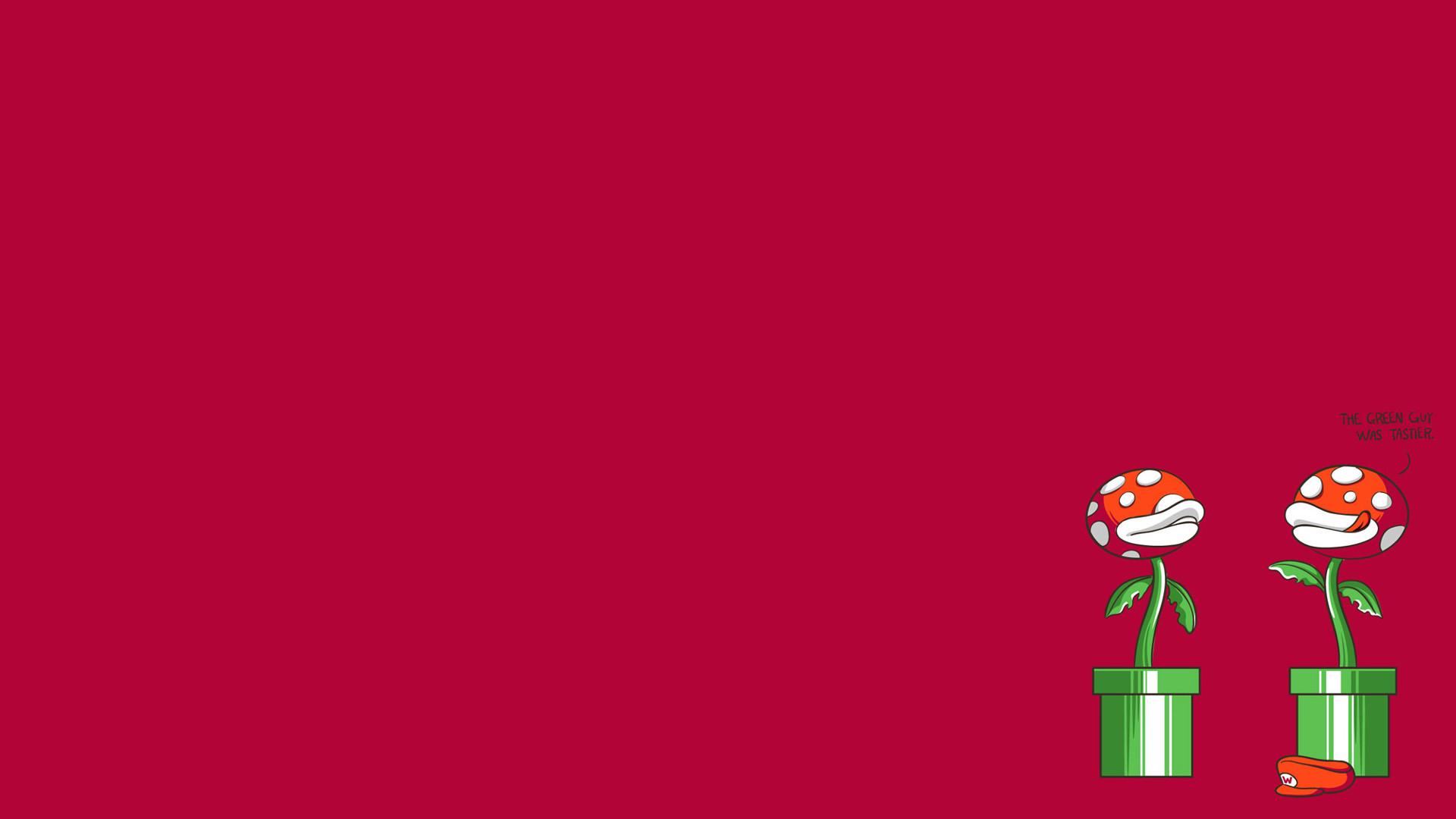 Res: 1920x1080, cartoons, minimalistic, Mario Bros, funny, mushrooms, plants - Free  Wallpaper / WallpaperJam.com