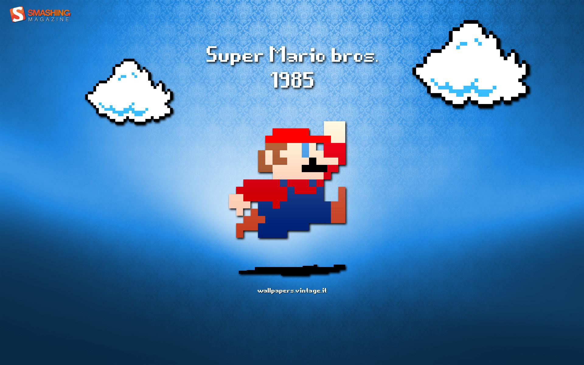 Res: 1920x1200,   Retro: Super Mario desktop PC and Mac wallpaper