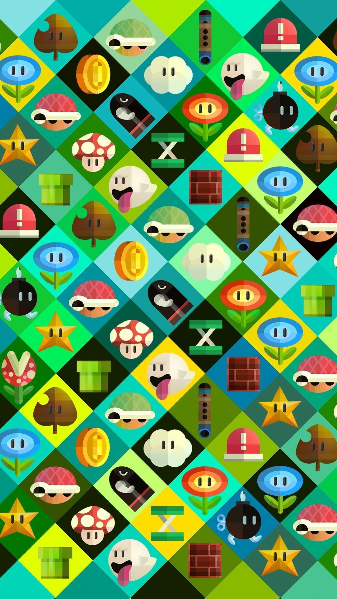 Res: 1080x1920,  [iPhone wallpaper] Super Mario characters