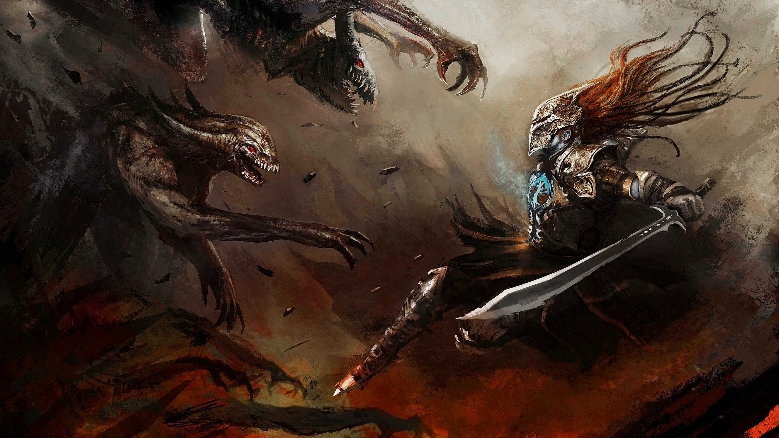 Res: 2560x1440, Fantasy Warrior Wallpaper 21 - 2560 X 1440