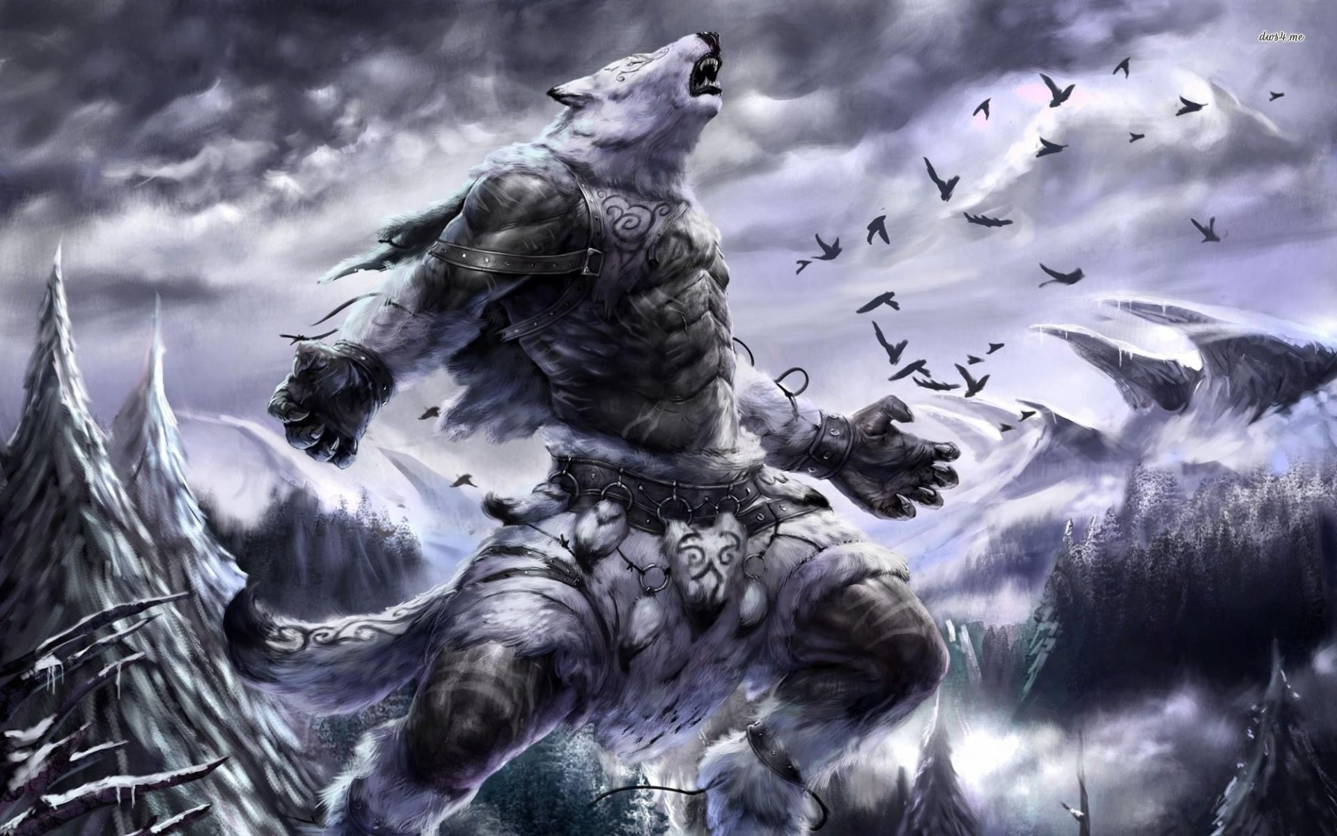 Res: 1920x1200, ... Werewolf warrior wallpaper  ...