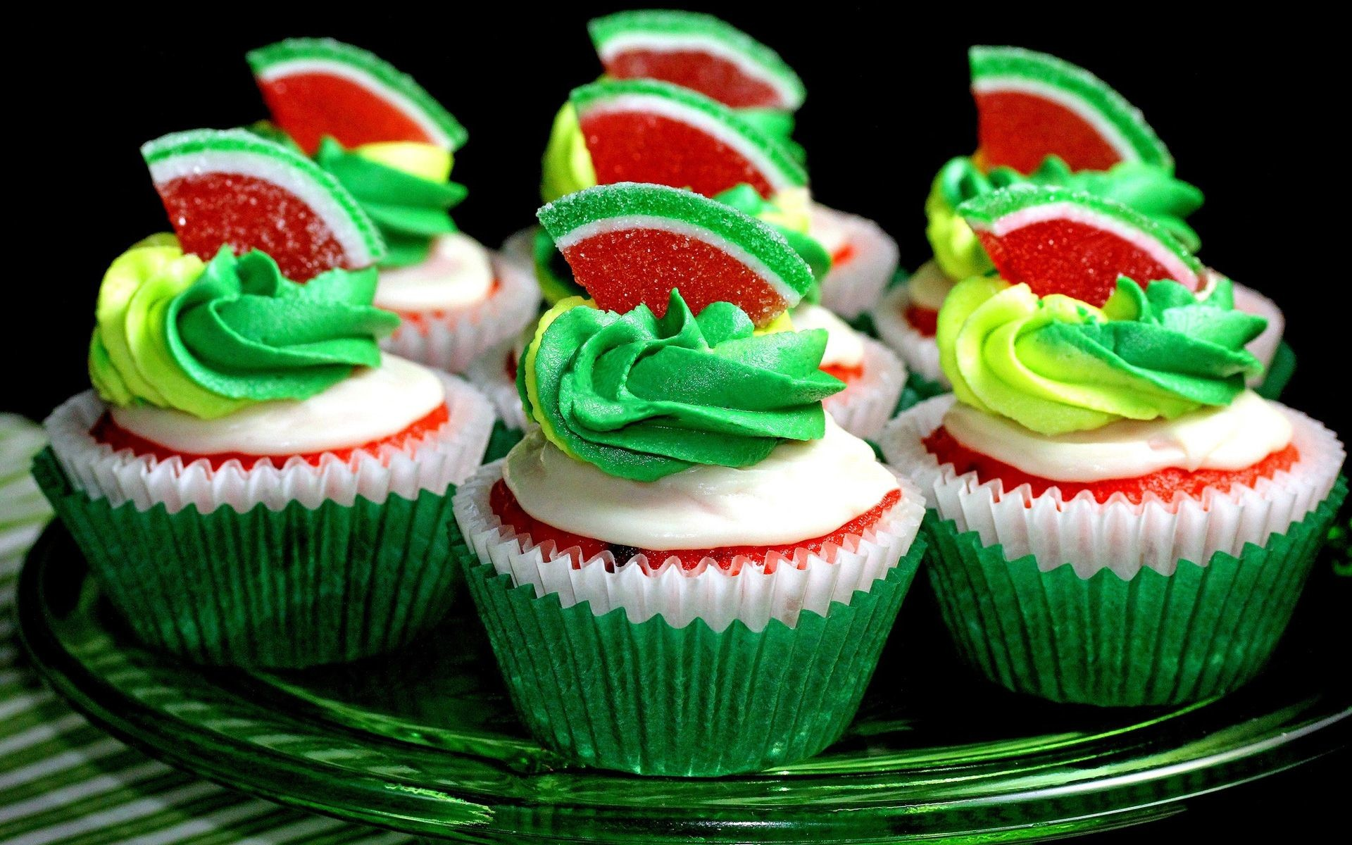 Res: 1920x1200, Watermelon Cup cakes HD Wallpaper Cake, Cup Cake, HD, Wallpapers,  Chocolate, Cream, Raspberry, Strawberry, Vanilla, Cakes, Images, Photos,  Pictures, ...