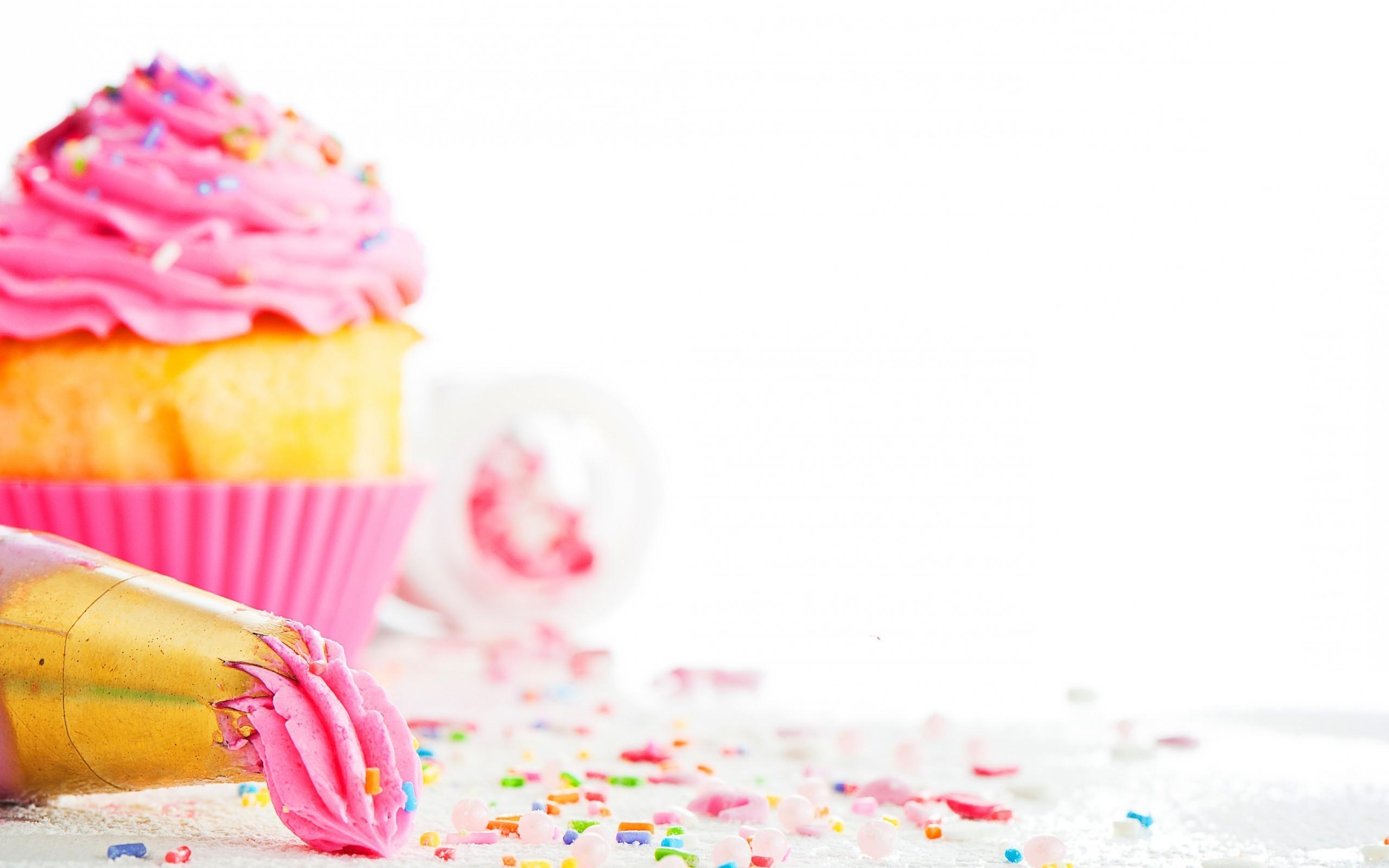 Res: 2560x1600,  Cute Pink Cupcake Wallpaper · Download · free ...