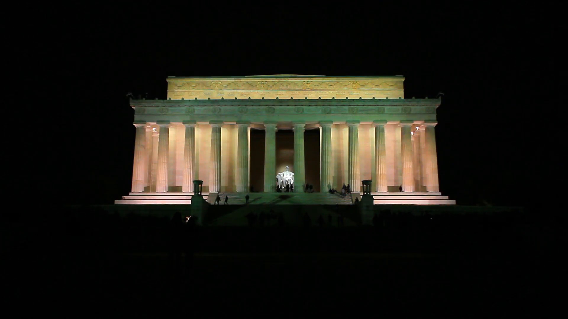 Res: 1920x1080, Night shot of the Lincoln Memorial in Washington DC Stock Video Footage -  Storyblocks Video
