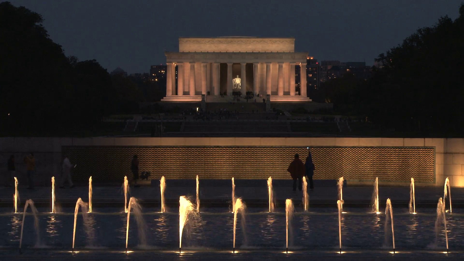 Res: 1920x1080, Lincoln Memorial at Night