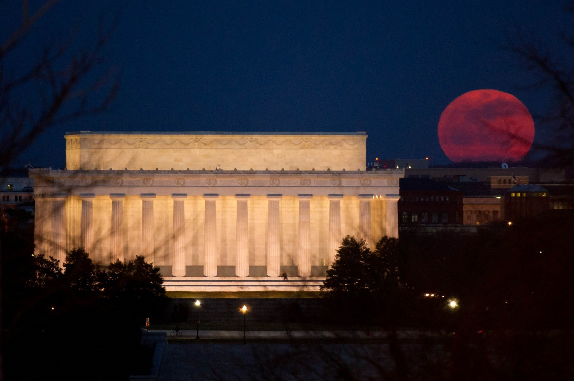 Res: 1920x1276, lincoln memorial,full moon,perigee,night,lunar,light,