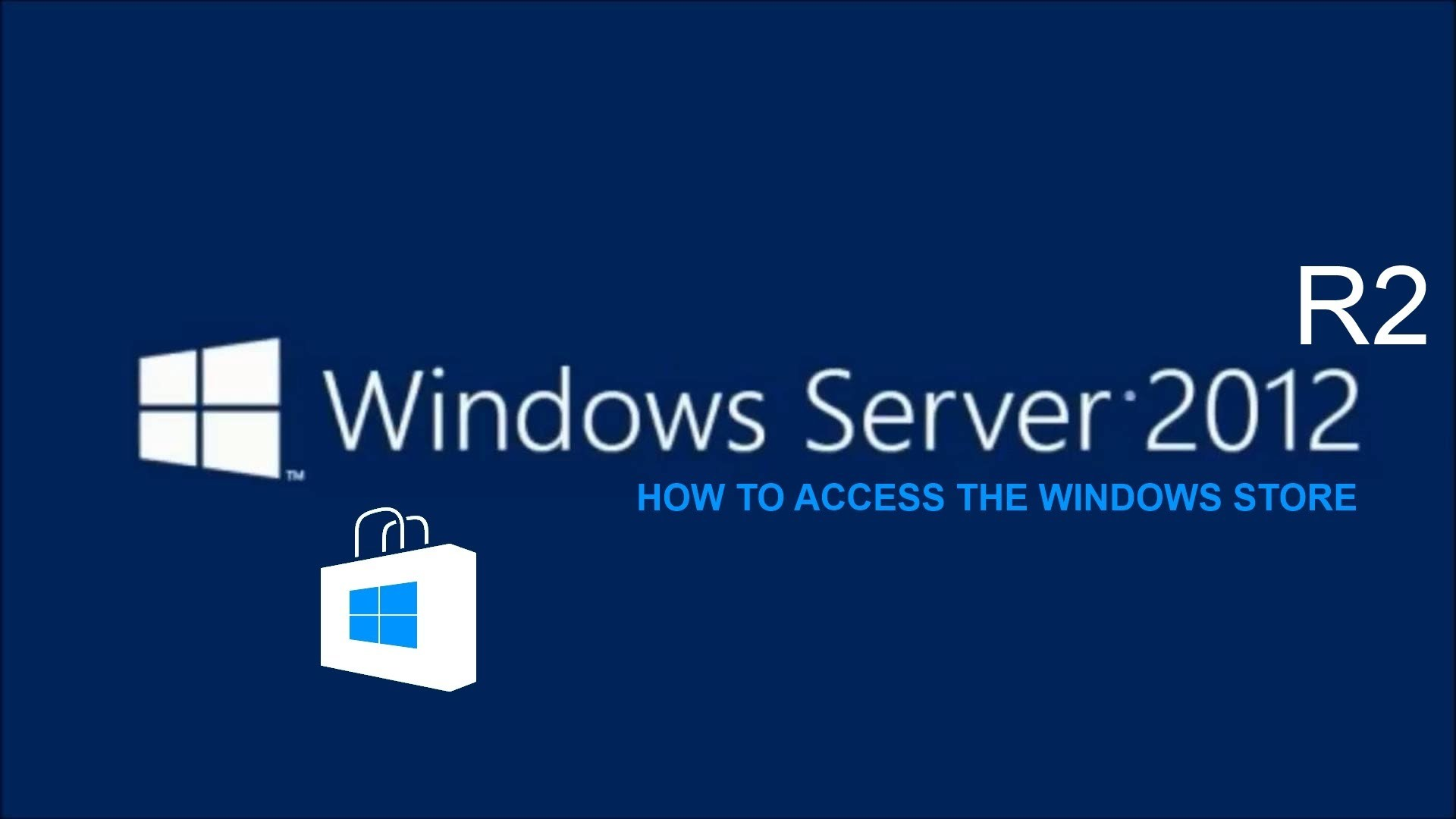 Res: 1920x1080, Windows Server 2012 R2 How to Activate the Windows Store