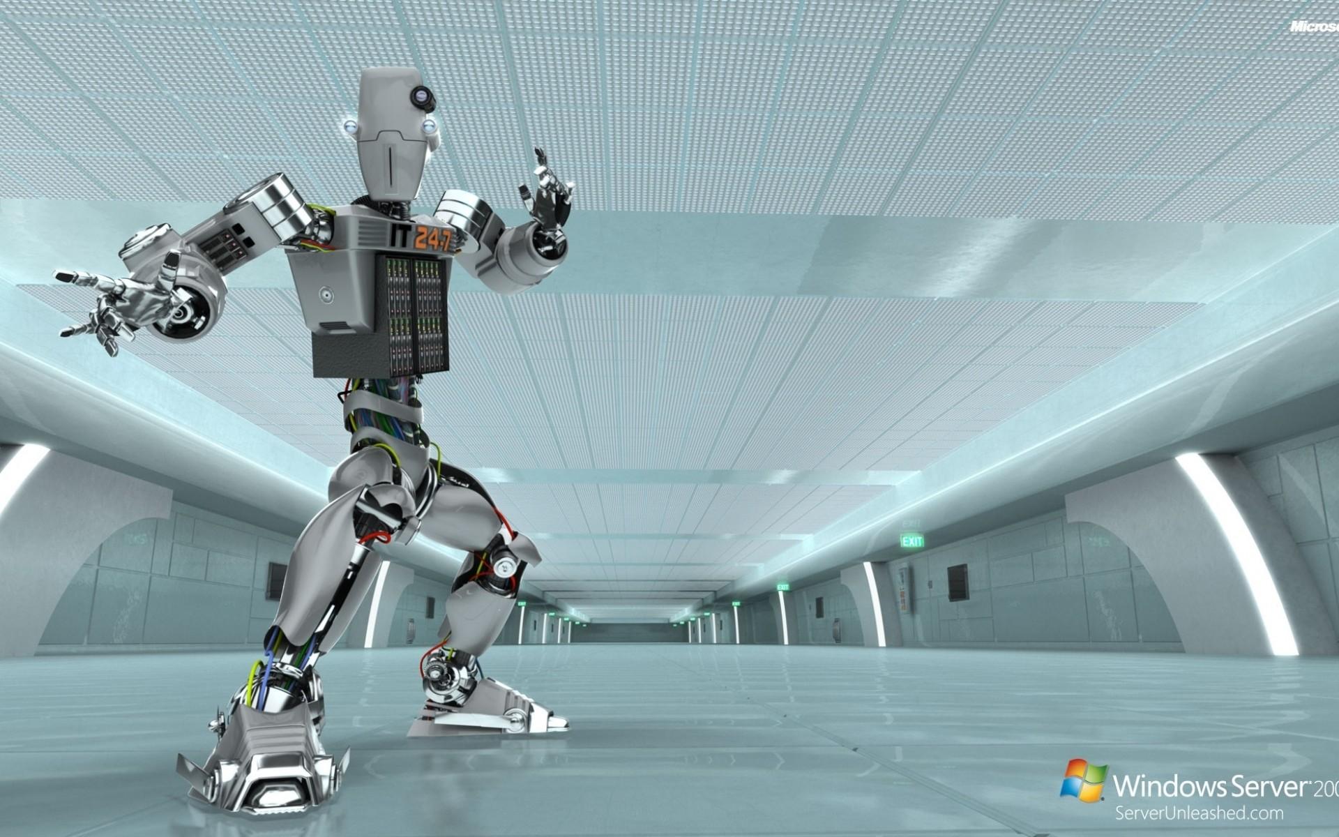 Res: 1920x1200, Windows Server 2008 Unleashed IT 24-7 Robot Desktop Background Wallpaper  Free Download