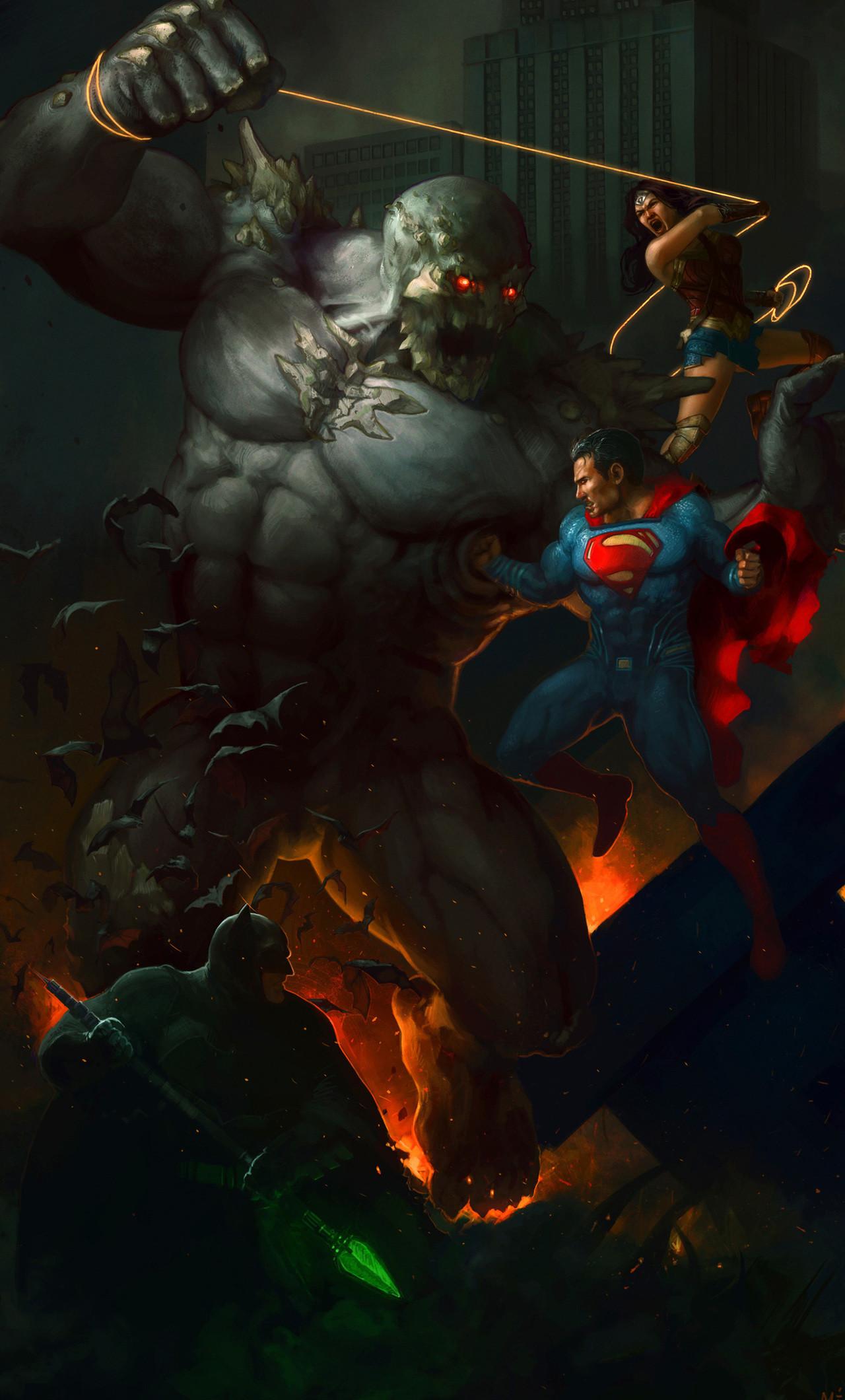 Res: 1280x2120, the-trinity-vs-doomsday-art-yg.jpg. 368; superman-wallpapers ...