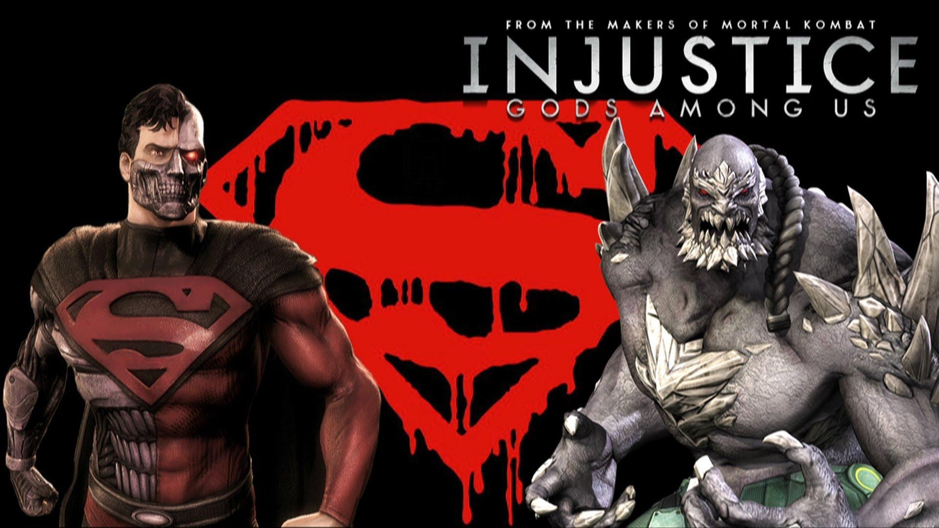 Res: 1920x1080, Injustice Gods Among Us Fresh Injustice Gods Among Us Cyborg Superman Vs  Doomsday with Lore Pics