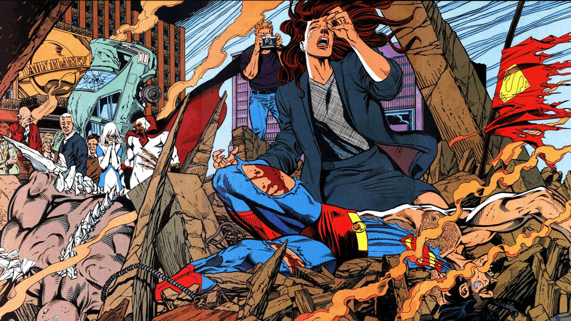 Res: 1920x1080, death of superman wallpaper The Death Of Superman Full HD Wallpaper and  Background Image  ID