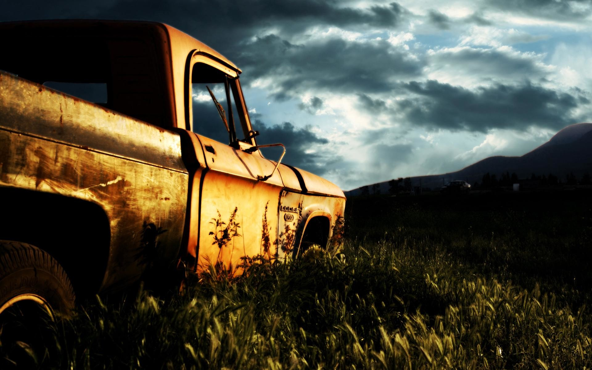 Res: 1920x1200,  wallpaper.wiki-Rusty-Old-Car-Cool-Backgrounds-Wallpapers-PIC .