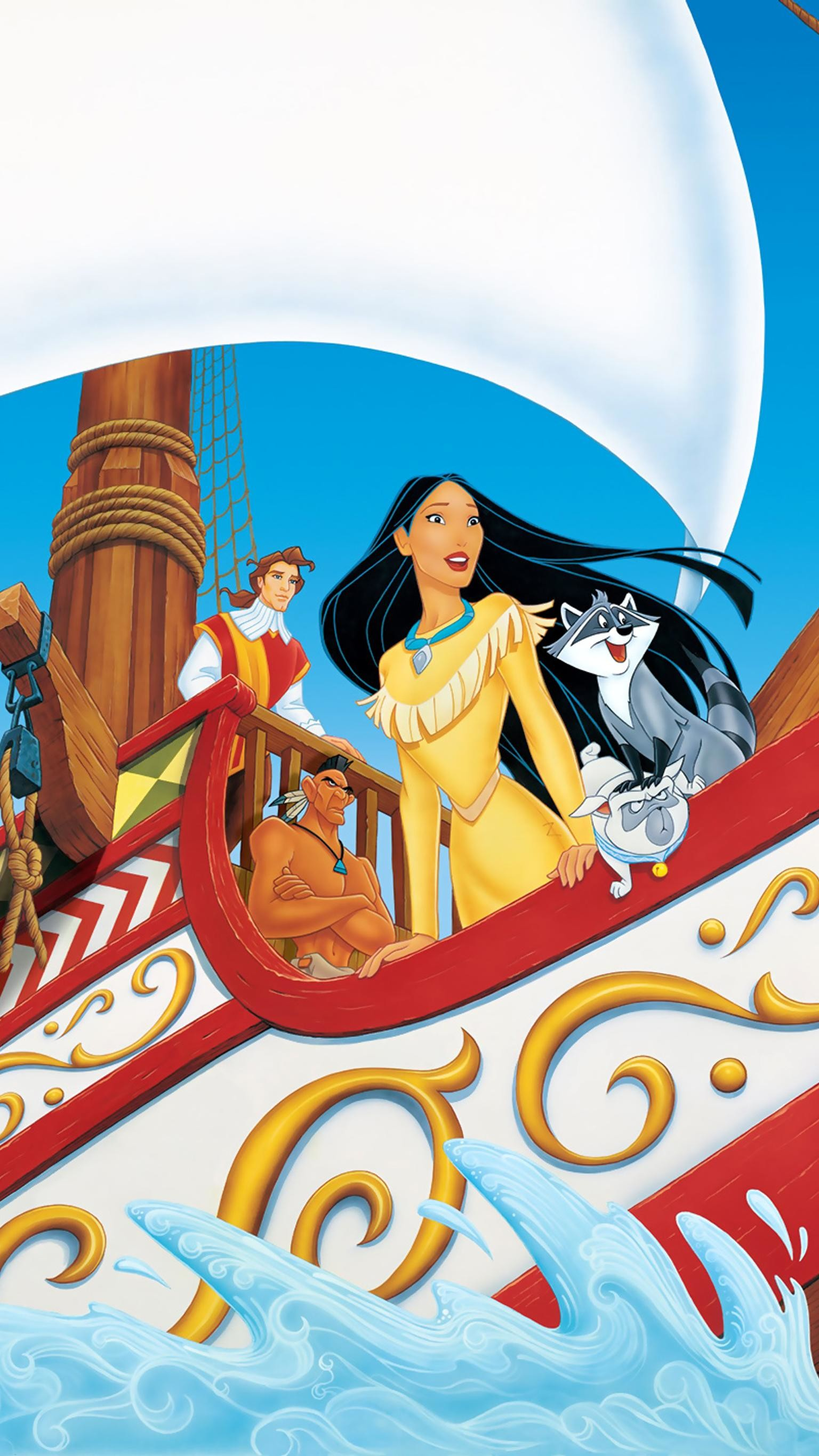 """Res: 1536x2732, Wallpaper for """"Pocahontas II: Journey to a New World"""" ..."""