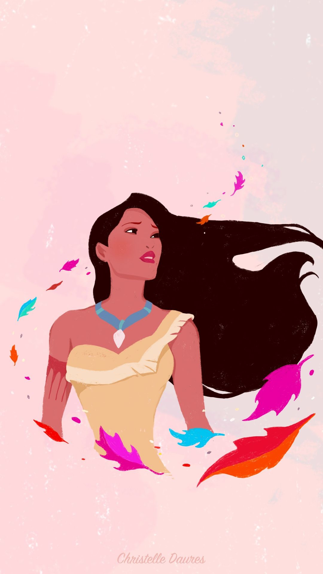 Res: 1080x1920, Pocahontas - color of the wind - disney - wallapaper - illustration -  iphone - smartphone