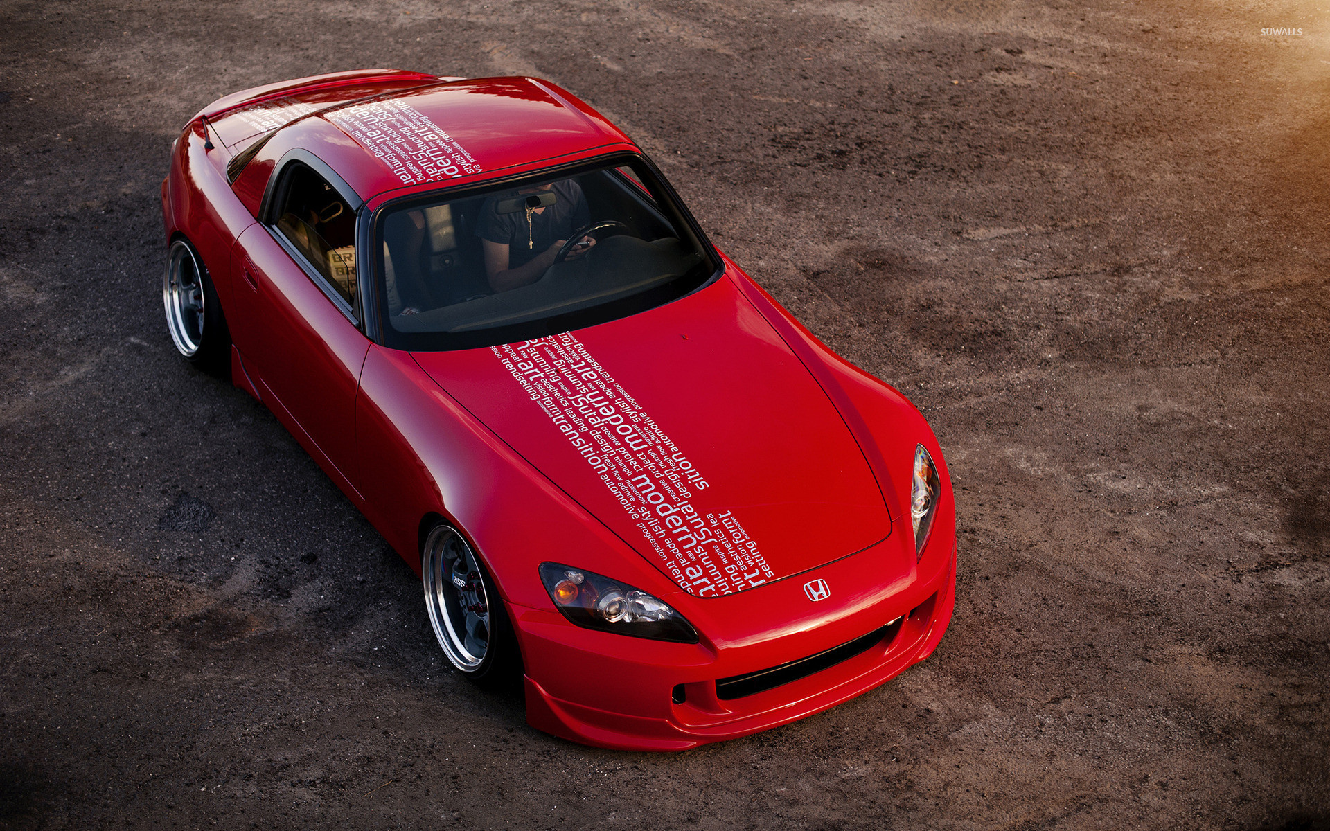 Res: 1920x1200, Red Honda S2000 front top view wallpaper