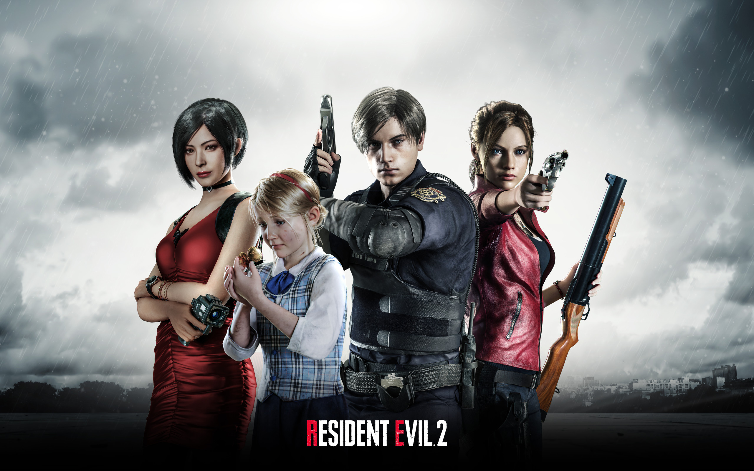 Res: 2560x1600, Wallpaper of Ada Wong, Claire Redfield, Leon S. Kennedy background & HD  image