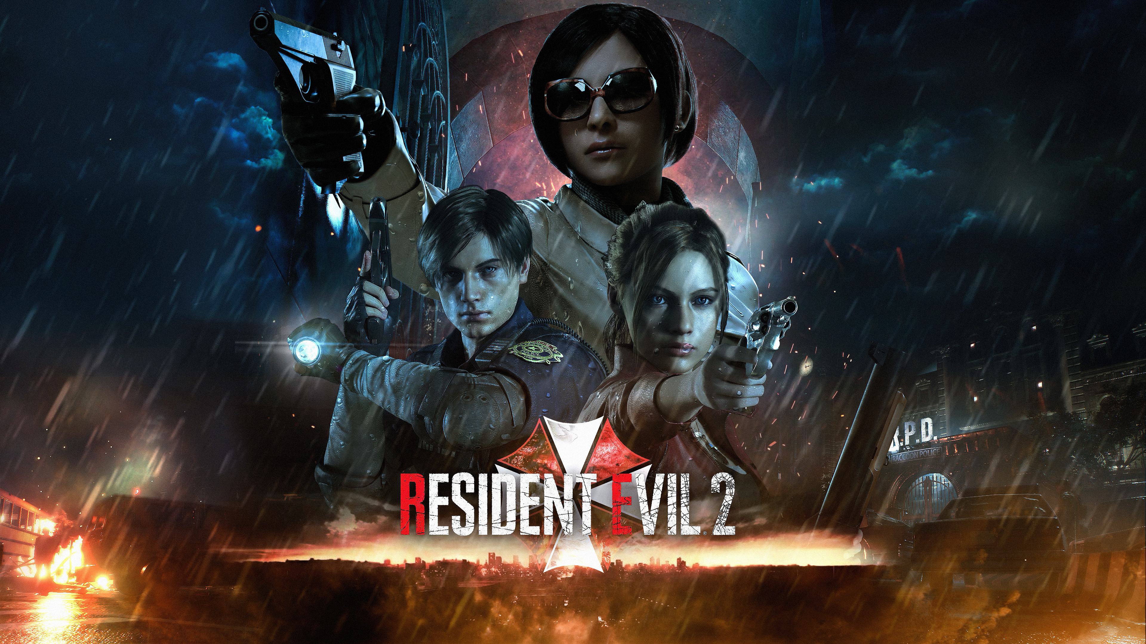 Res: 3840x2160, Wallpaper of Ada Wong, Claire Redfield, Leon S. Kennedy background & HD  image