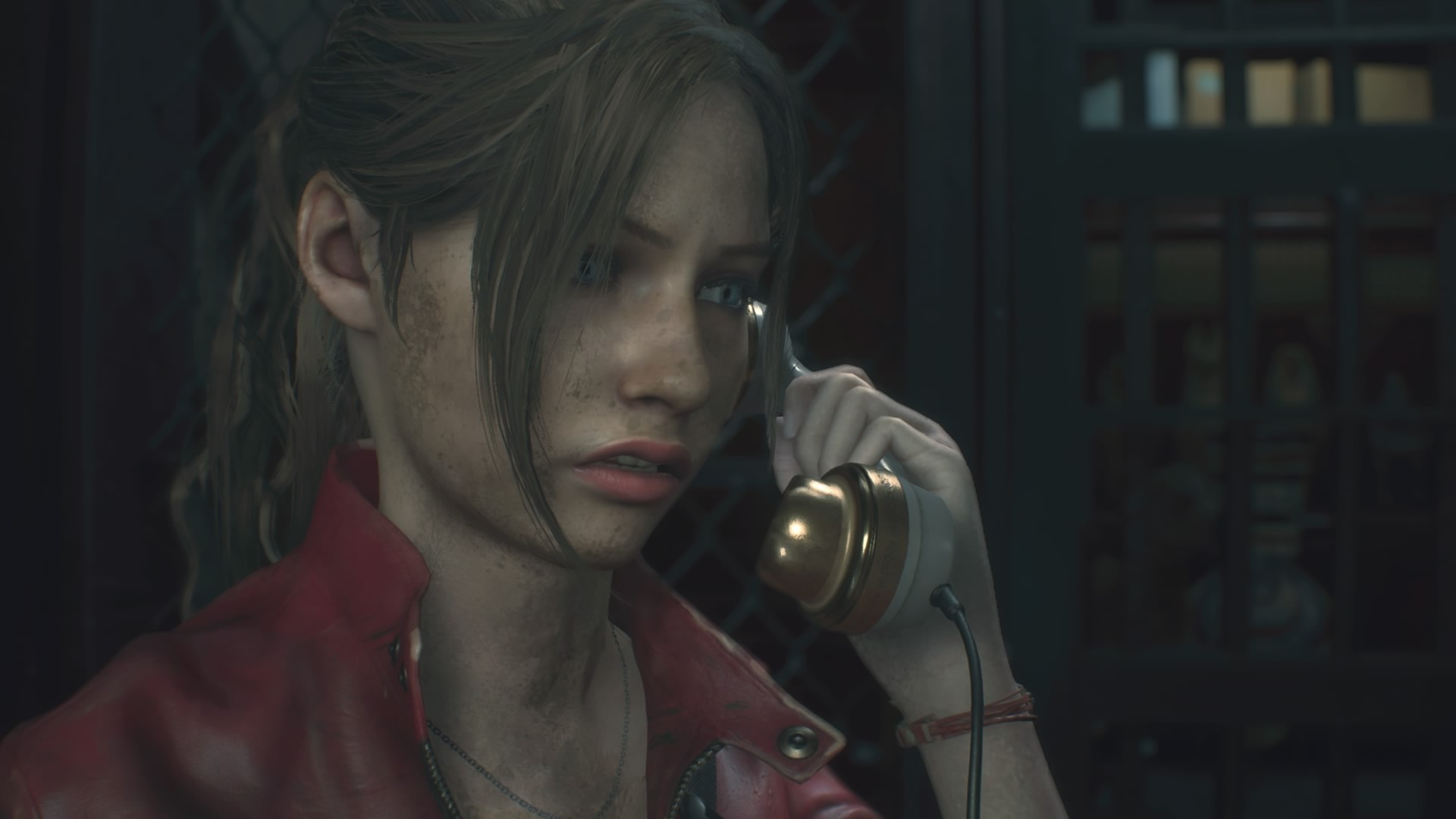 Res: 1920x1080, Resident Evil 2, Claire Redfield, In-game