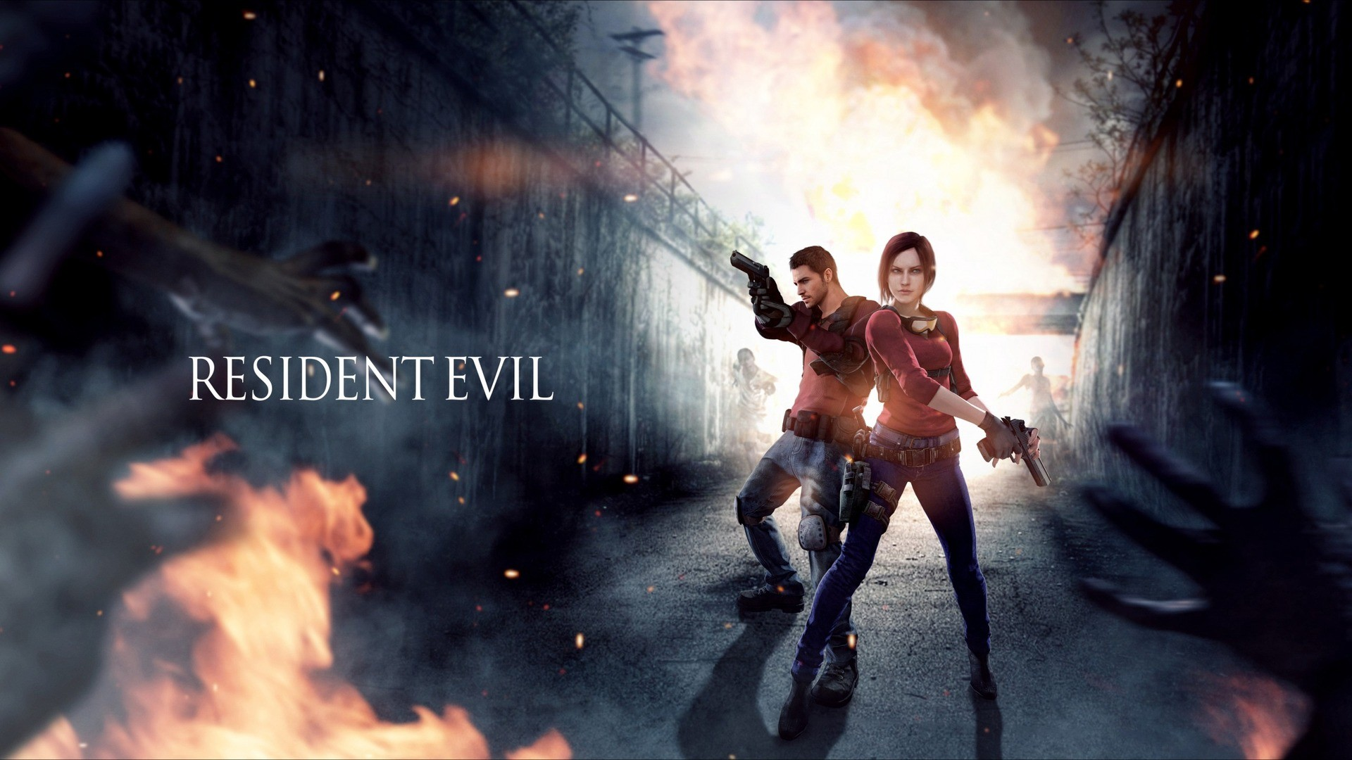 Res: 1920x1080,  Wallpaper resident evil, claire redfield, chris redfield
