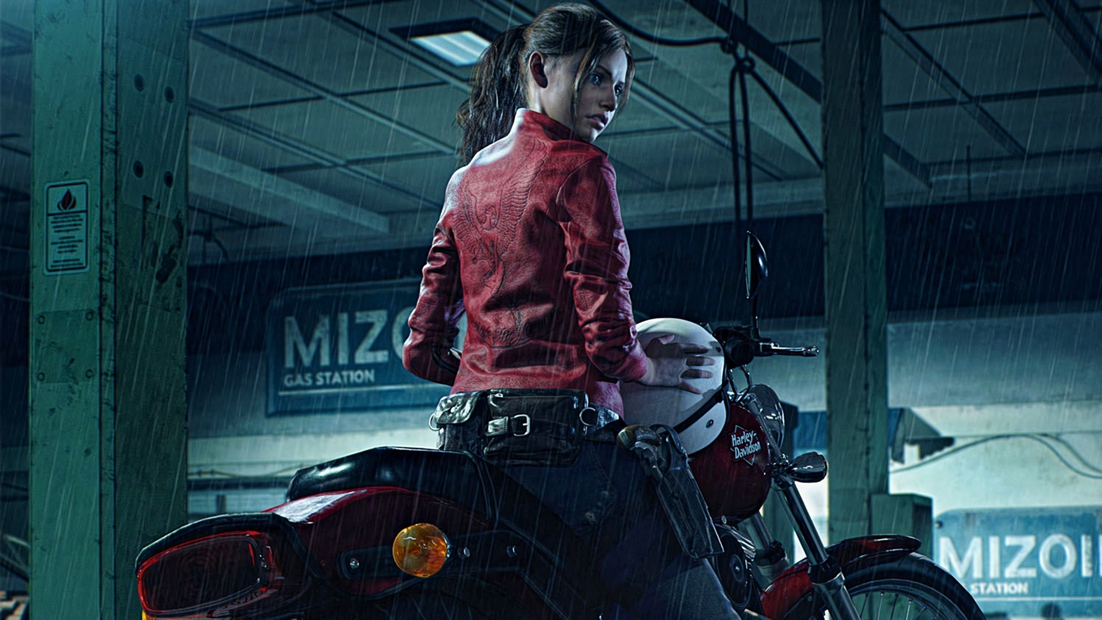 Res: 3840x2160, Resident Evil 2 2019 Claire Redfield Harley Davidson resident evil 2  wallpapers, hd-wallpapers, games wallpapers, claire redfield wallpapers, 4k- wallpapers, ...