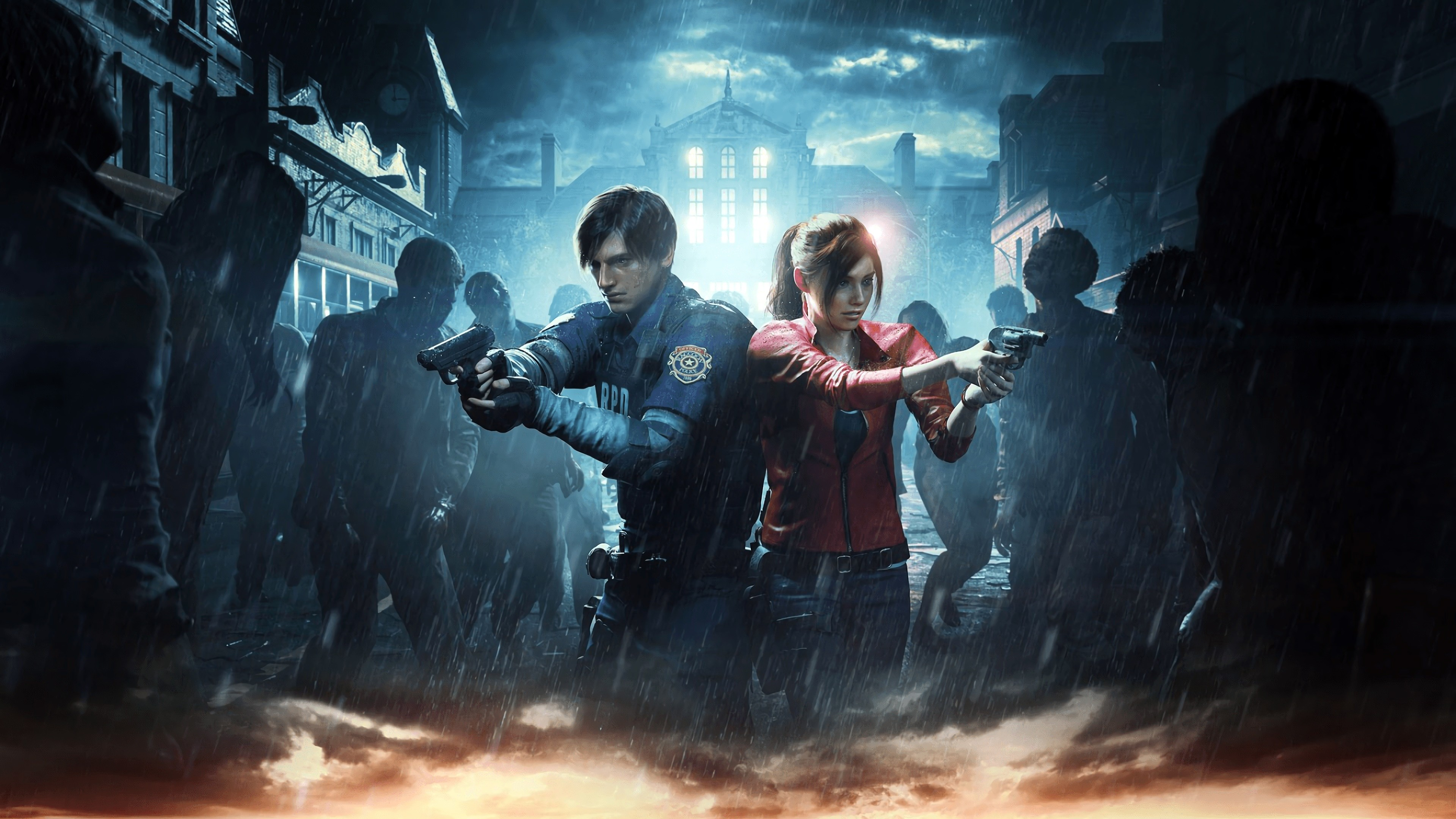 Res: 3840x2160,  Claire Redfield, Leon S. Kennedy, Resident Evil, Videospiel, Resident  Evil