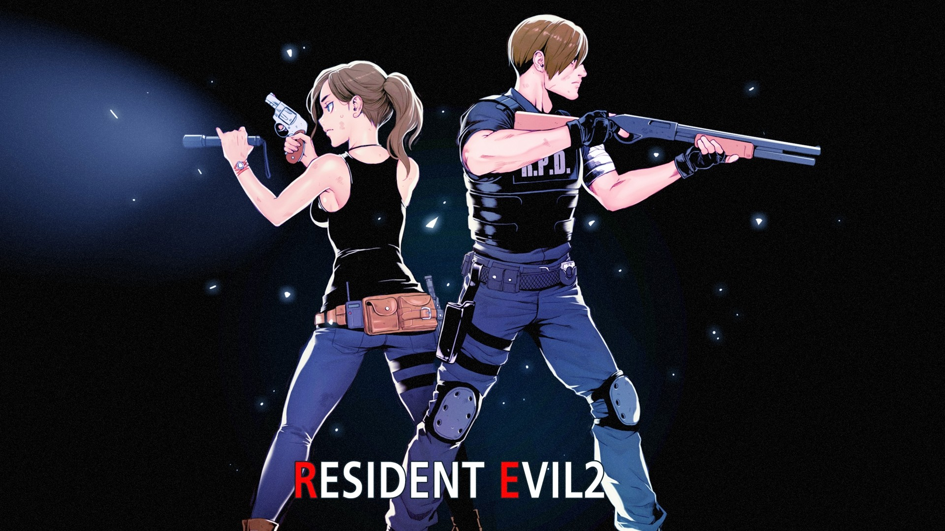 Res: 1920x1080, Wallpaper of Claire Redfield, Leon S. Kennedy, Resident Evil 2 background &  HD image