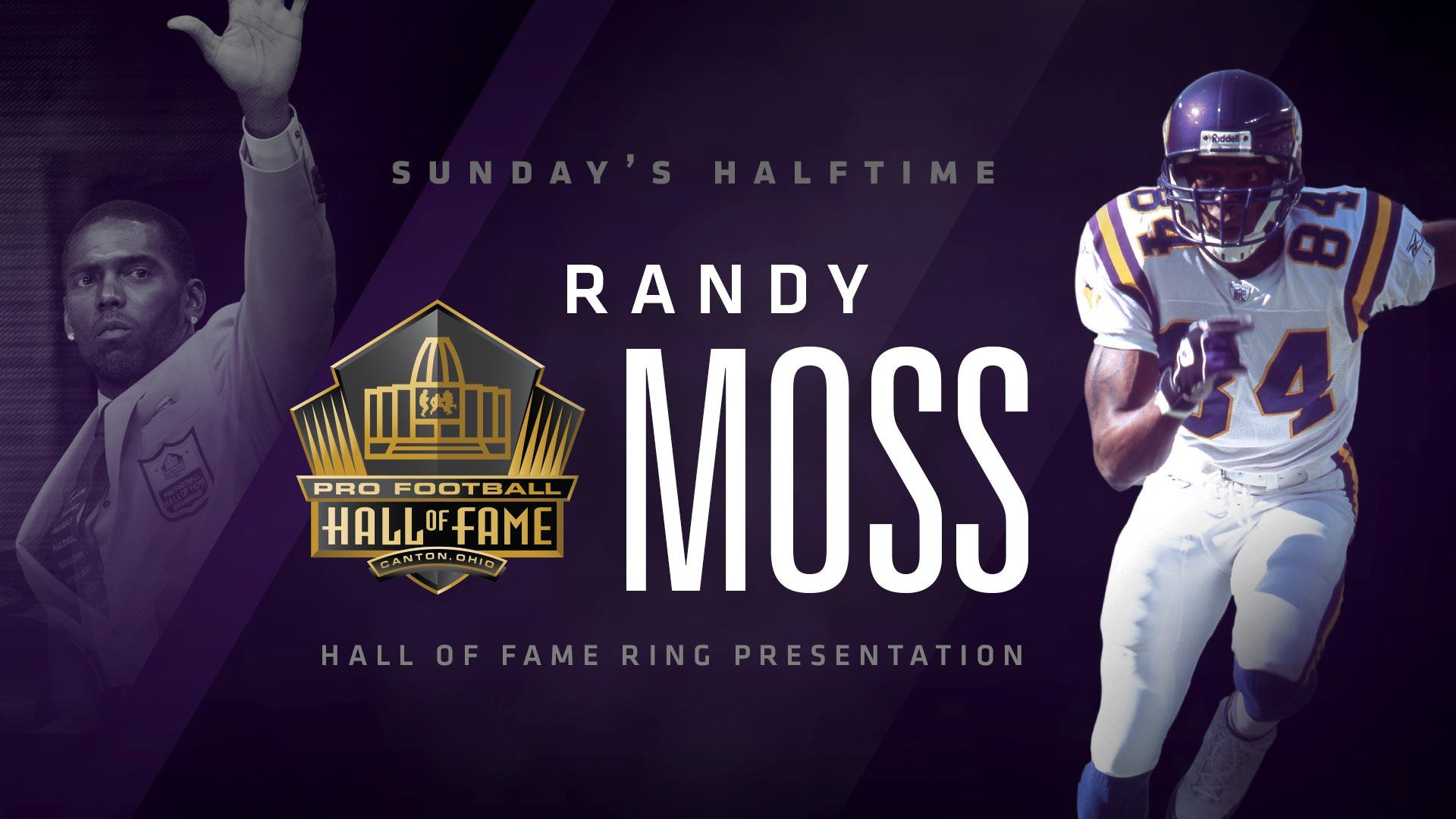 "Res: 1920x1080, Minnesota Vikings on Twitter: "".@RandyMoss will receive his @ProFootballHOF Ring of Excellence during a special halftime ceremony Sunday night.… """