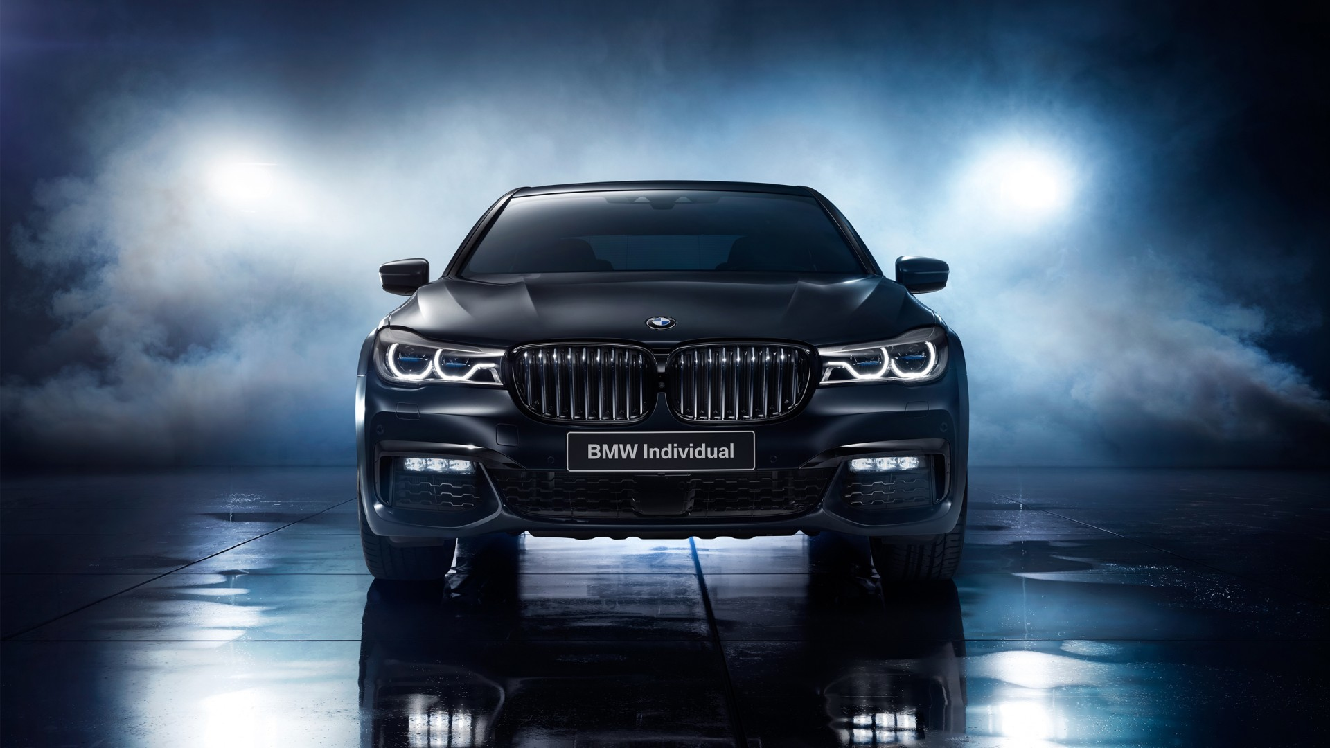 Res: 1920x1080, 2017 BMW 7 Series Black Ice wallpaper hd-