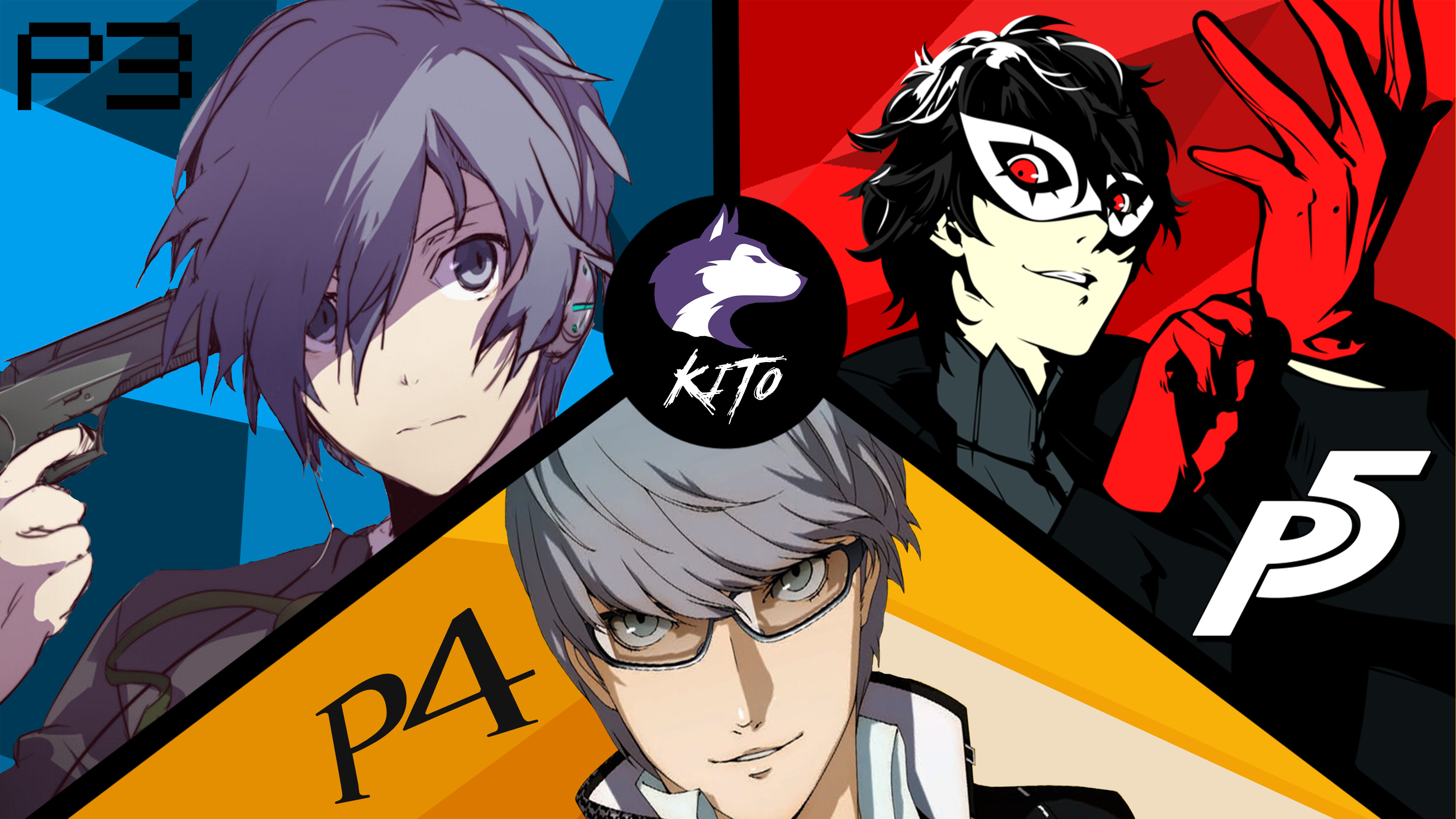 Res: 3794x2133, Persona 3, 4 and 5 Wallpaper