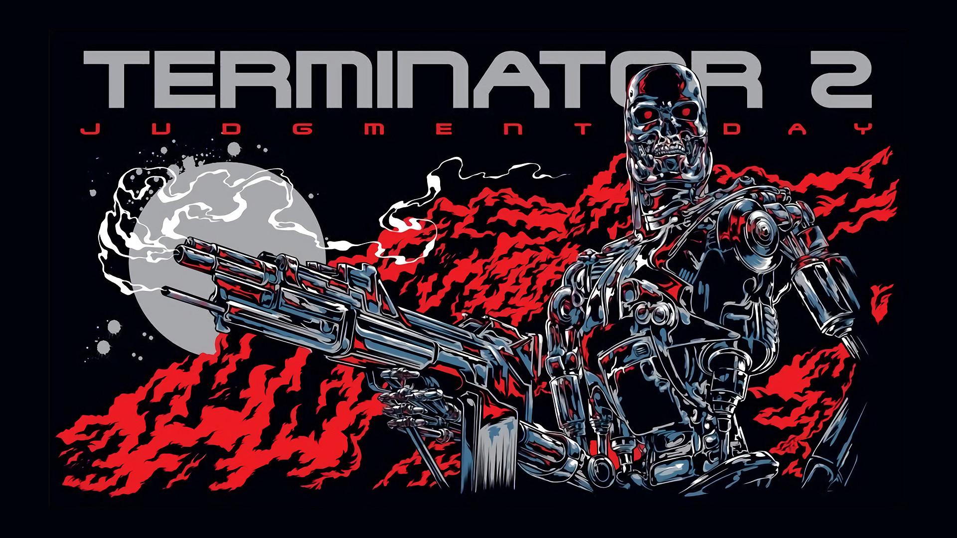 Res: 1920x1080, Cool Terminator 2 Fan Poster / Wallpaper