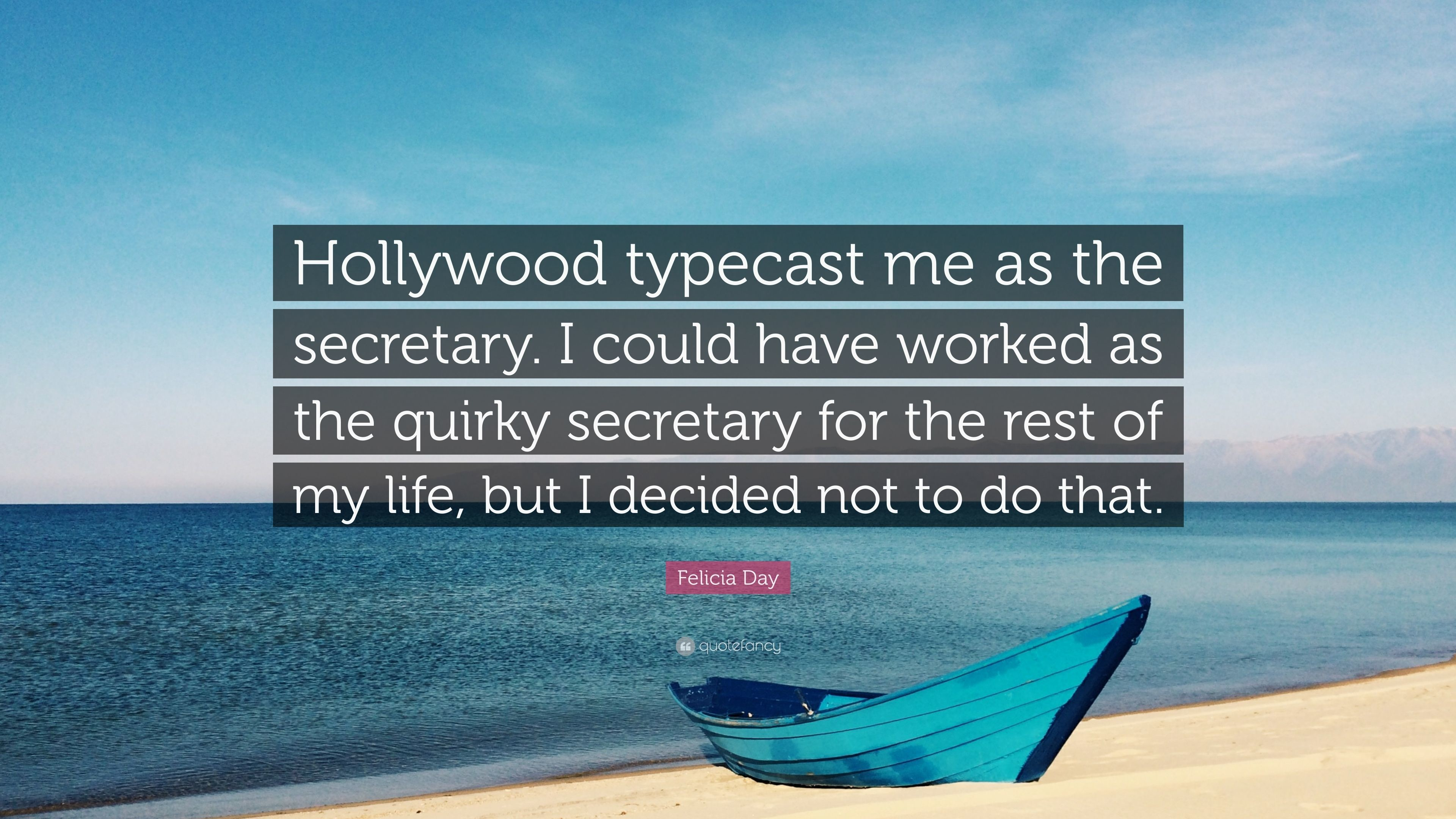 """Res: 3840x2160, Felicia Day Quote: """"Hollywood typecast me as the secretary. I could have  worked"""