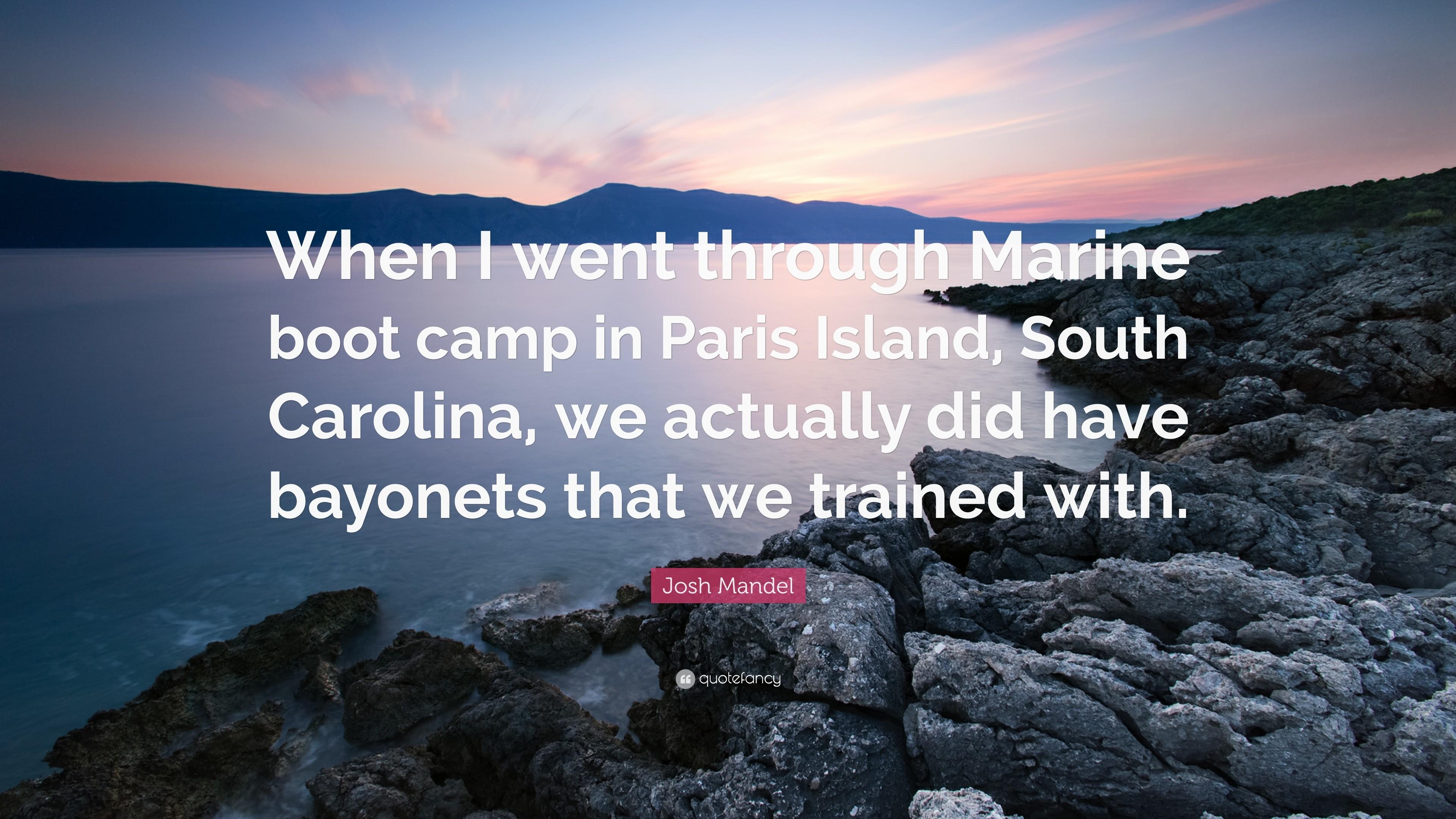 """Res: 3840x2160, Josh Mandel Quote: """"When I went through Marine boot camp in Paris Island,"""