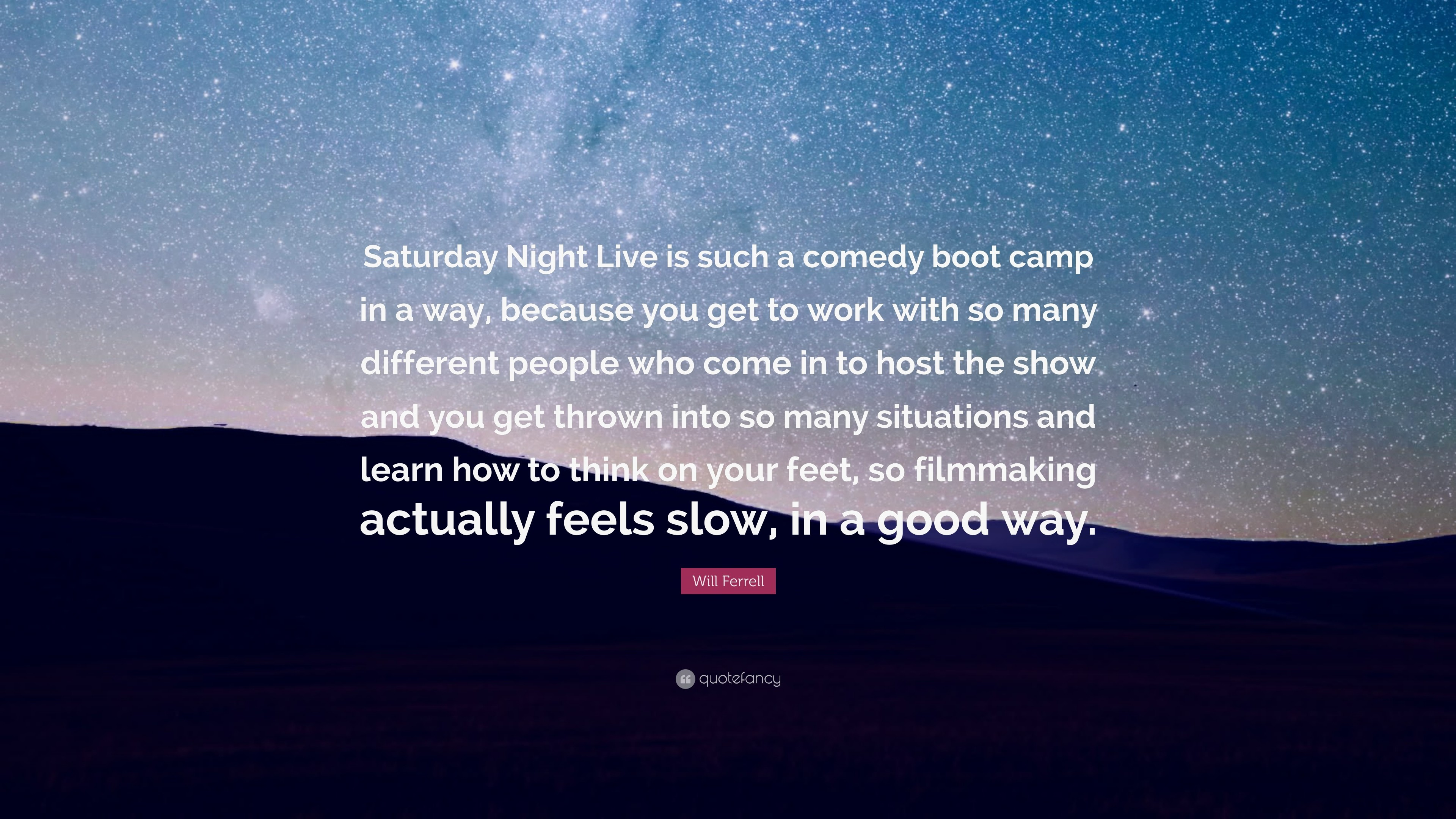 "Res: 3840x2160, Will Ferrell Quote: ""Saturday Night Live is such a comedy boot camp in a"