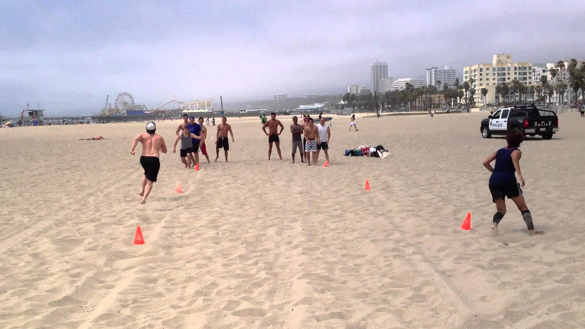 Res: 1920x1080, Santa Monica Beach Boot Camp Fun Sand Relay Group Fitness - Saori Fitness