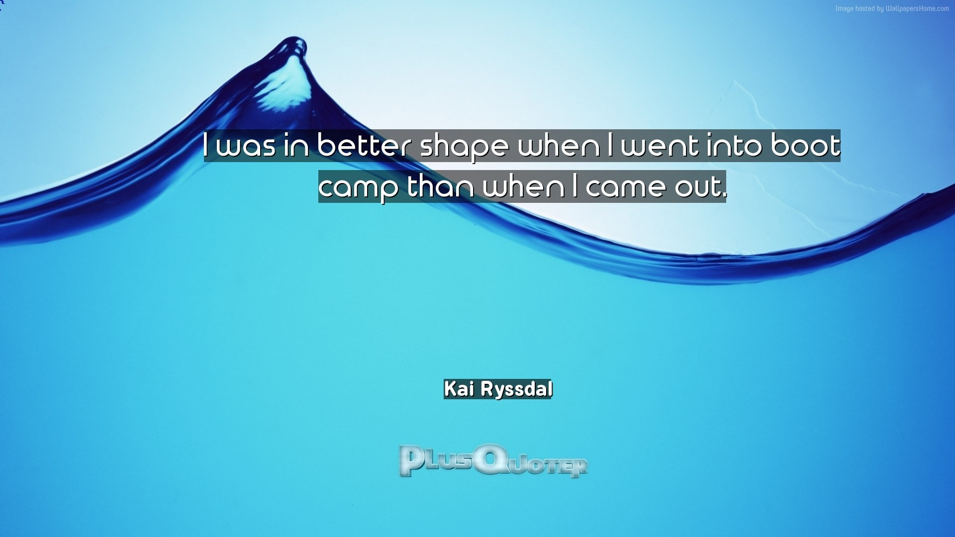 "Res: 1920x1080, Download Wallpaper with inspirational Quotes- ""I was in better shape when I  went into"