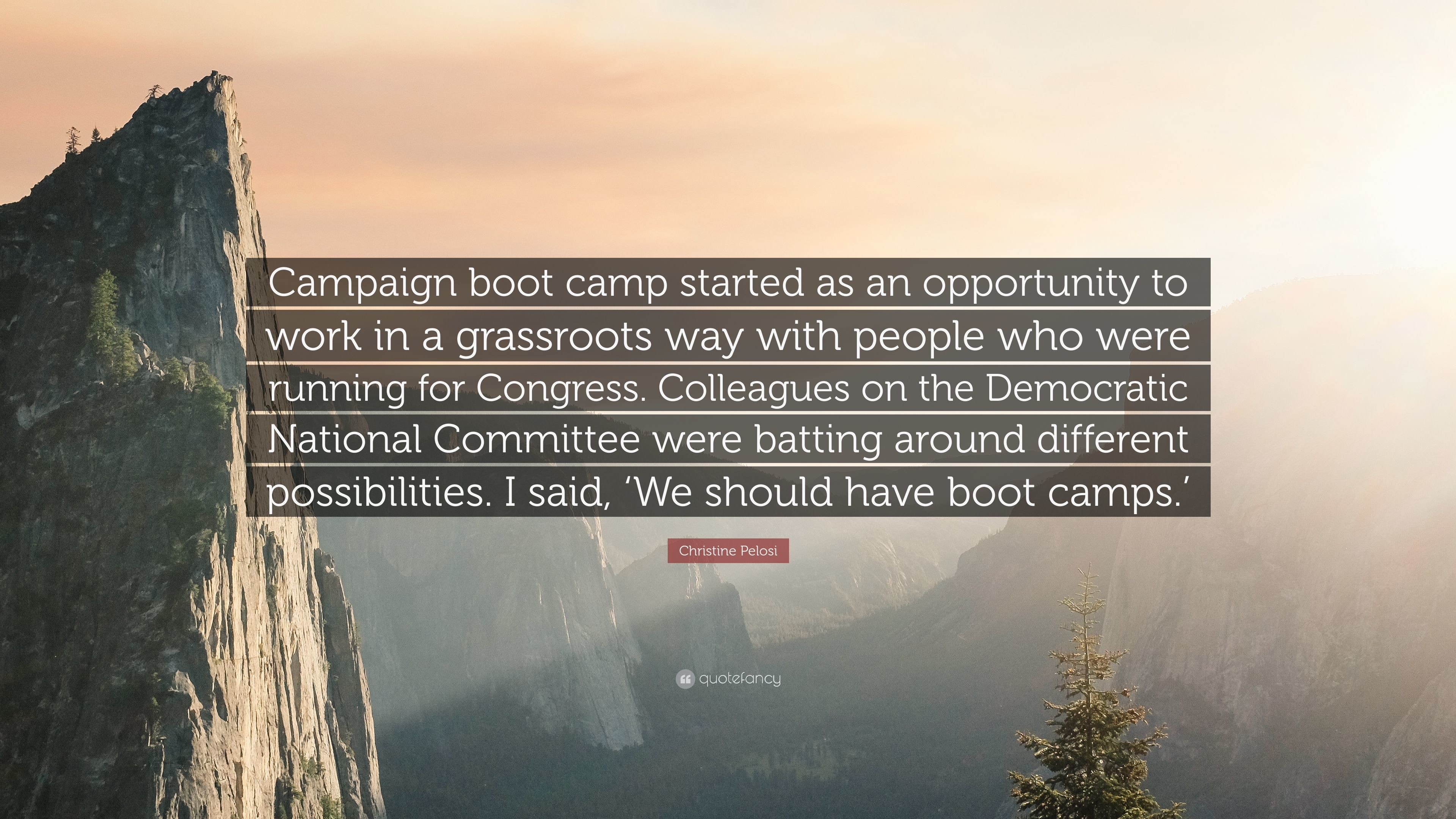 "Res: 3840x2160, Christine Pelosi Quote: ""Campaign boot camp started as an opportunity to  work in a"